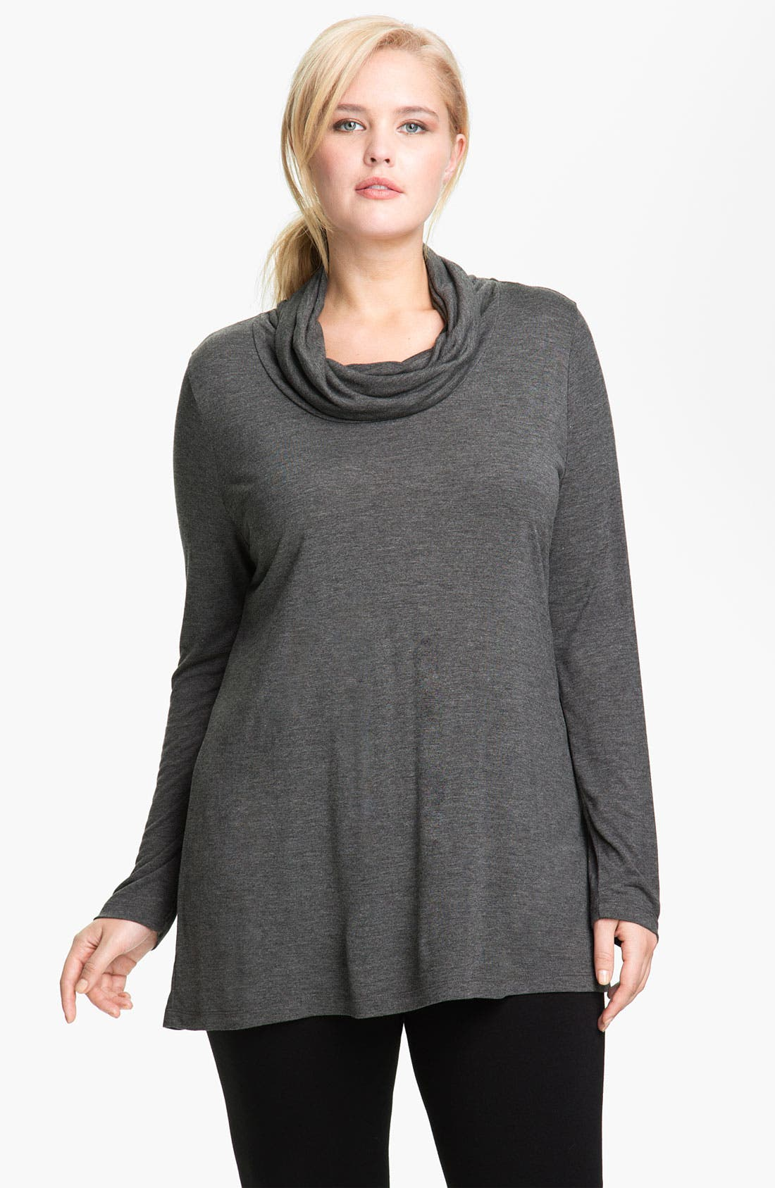 Main Image - Kische Cowled Turtleneck Top (Plus)