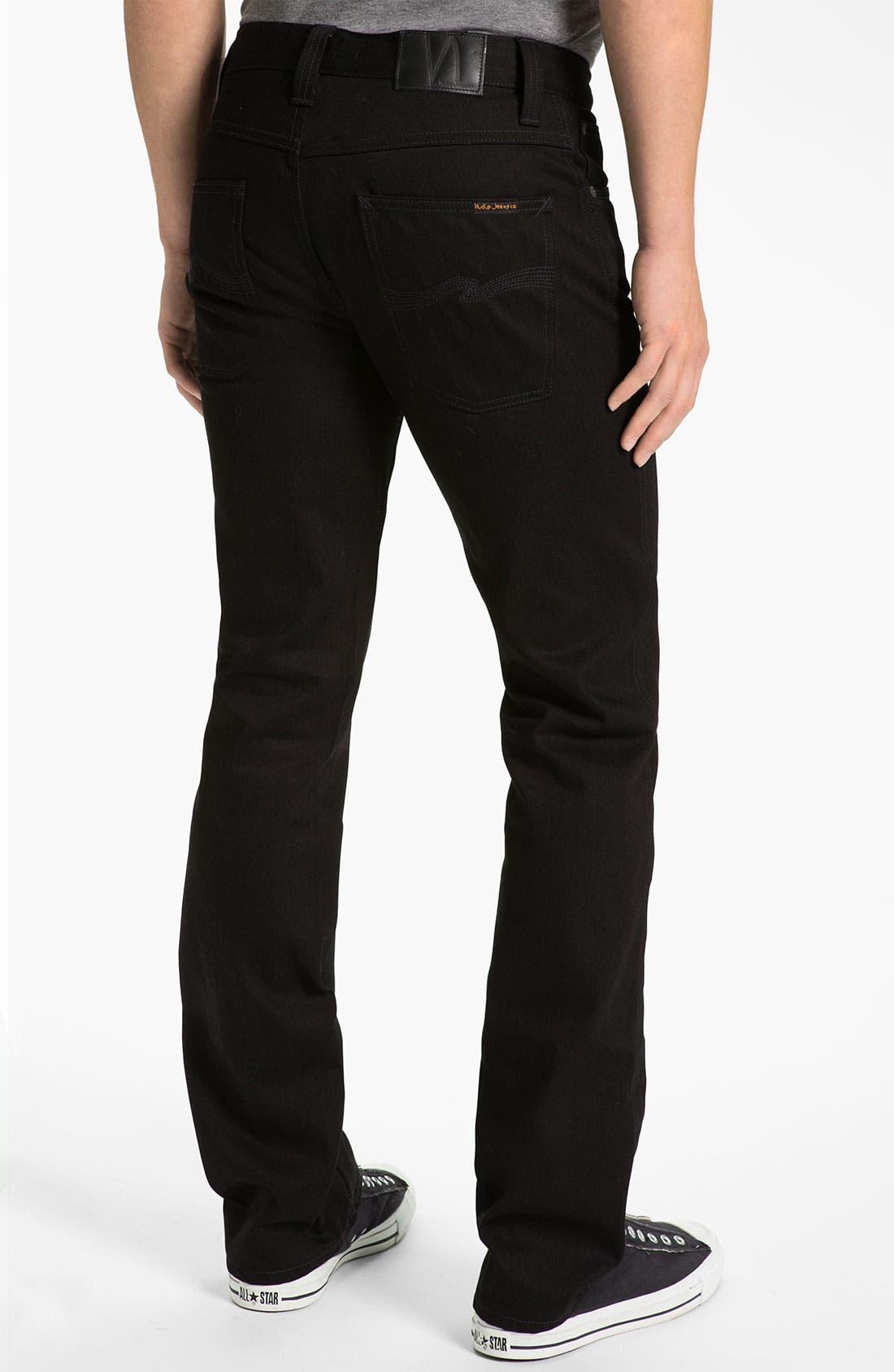 Alternate Image 1 Selected - Nudie Jeans 'Slim Jim' Slim Fit Jeans (Organic Dry Black)