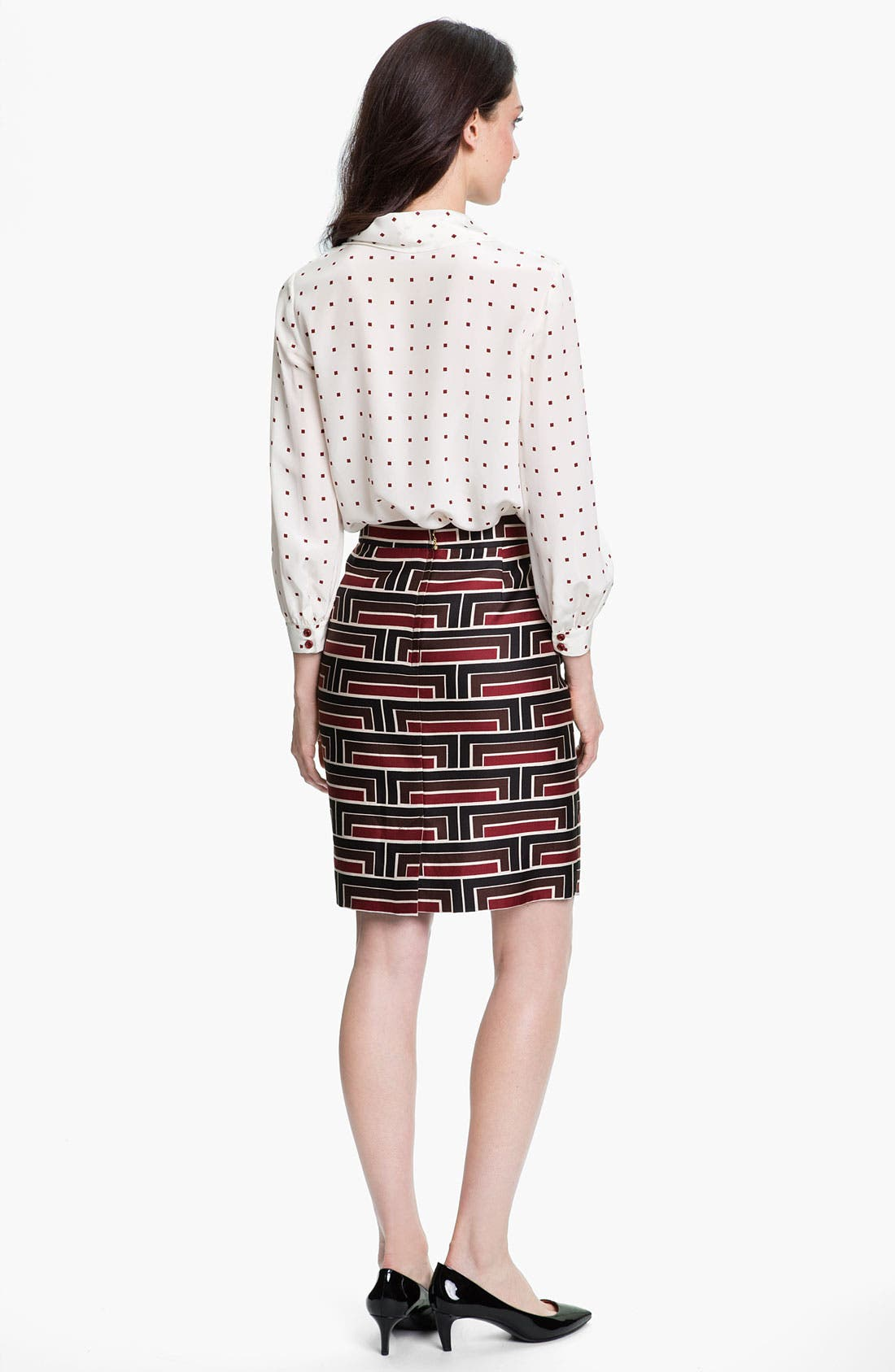 Alternate Image 3  - kate spade new york 'jordan' print skirt