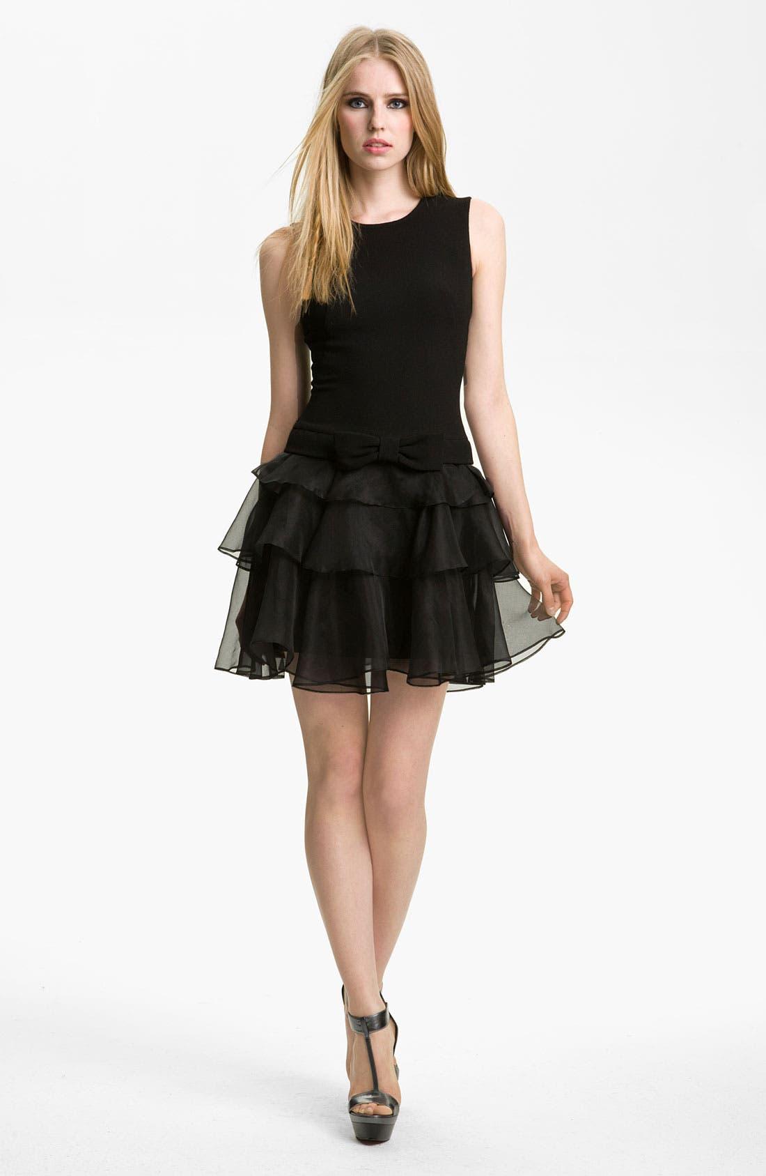 Alternate Image 1 Selected - Rachel Zoe 'Judi' Ruffled Crepe Dress