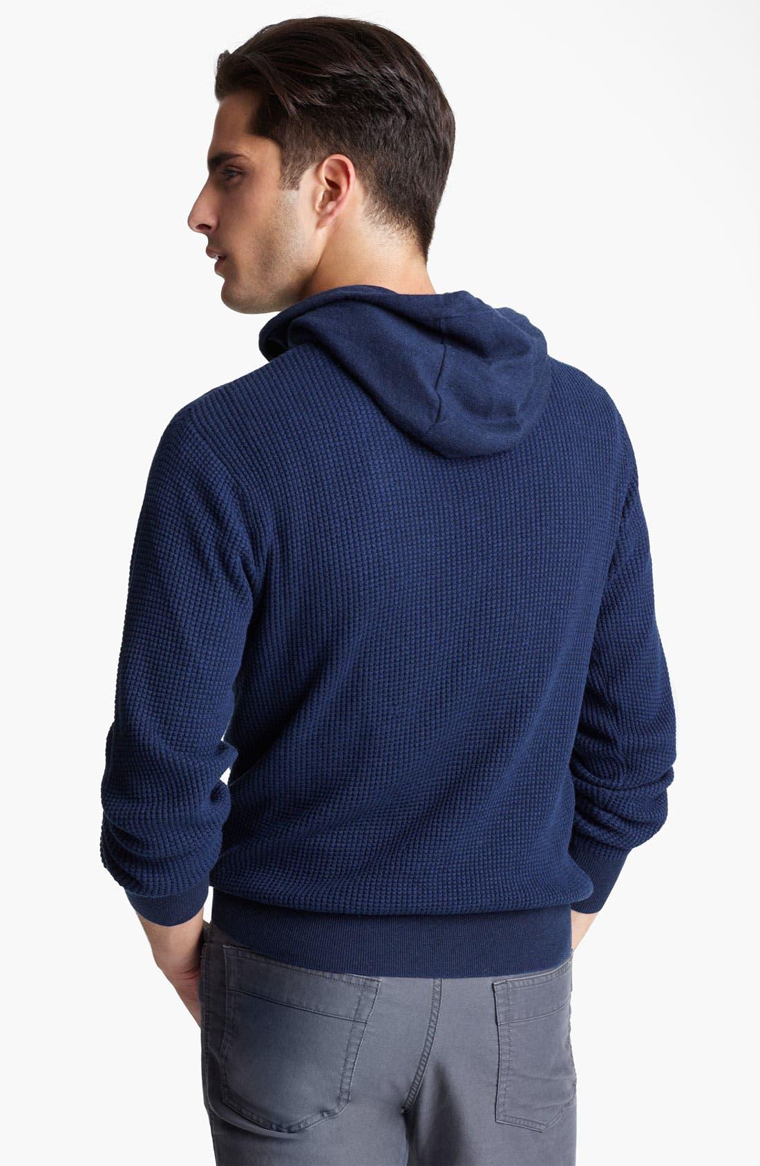 Alternate Image 2  - Zegna Sport Waffled Cashmere & Cotton Hoodie