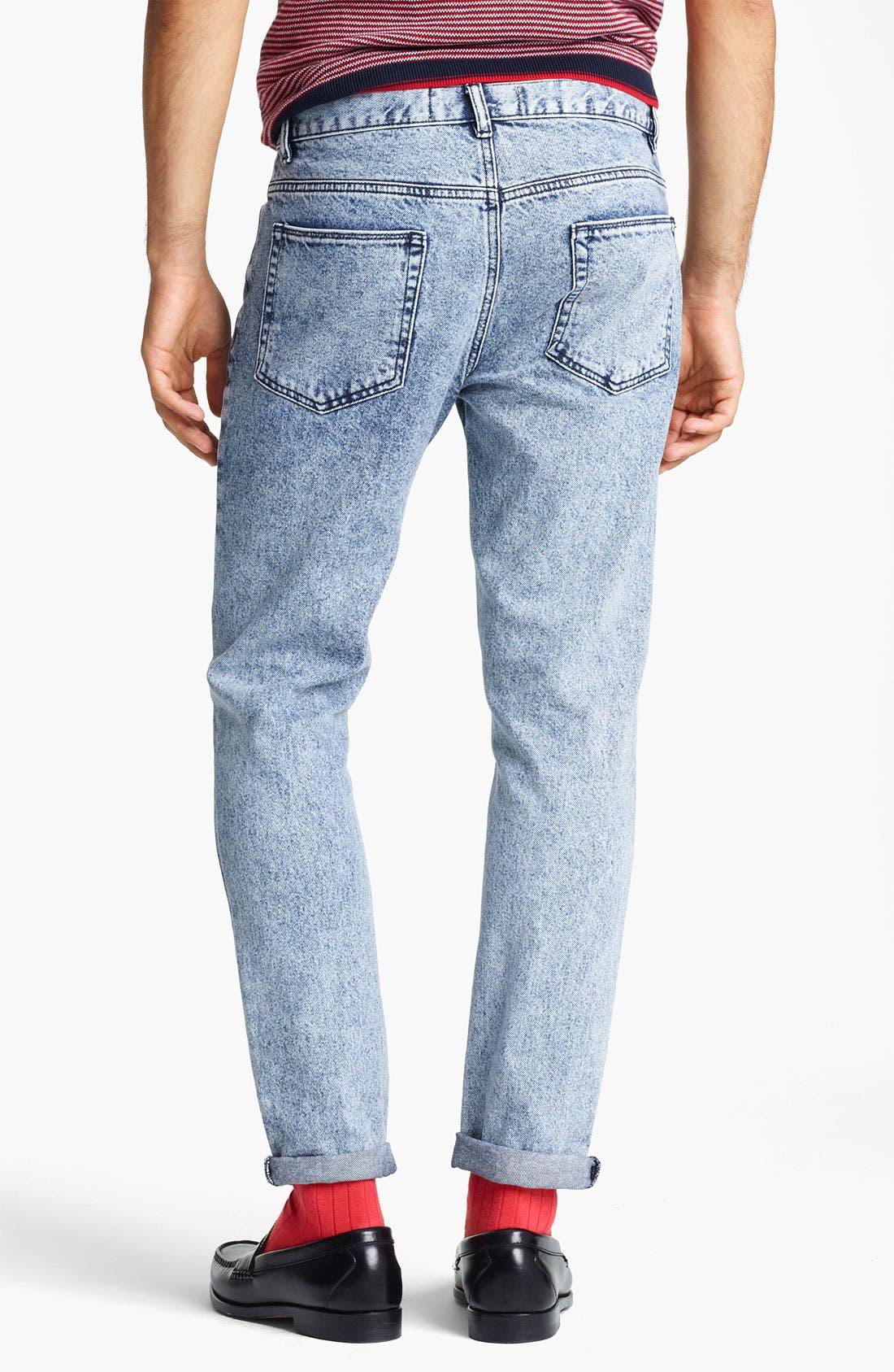 Alternate Image 2  - Topman Vintage Skinny Jeans (Light Wash)