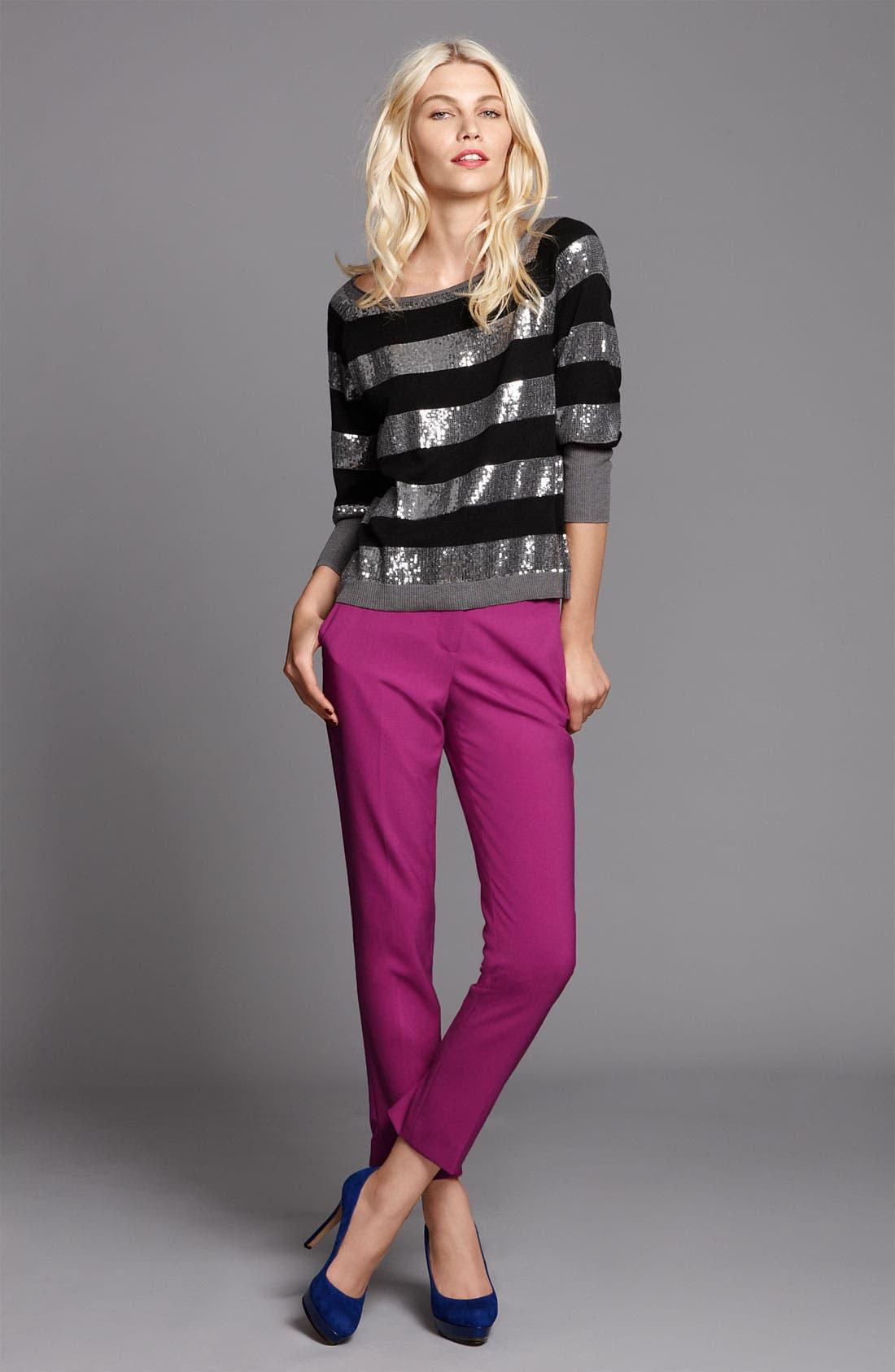 Alternate Image 2  - Vince Camuto Sequin Stripe Sweater