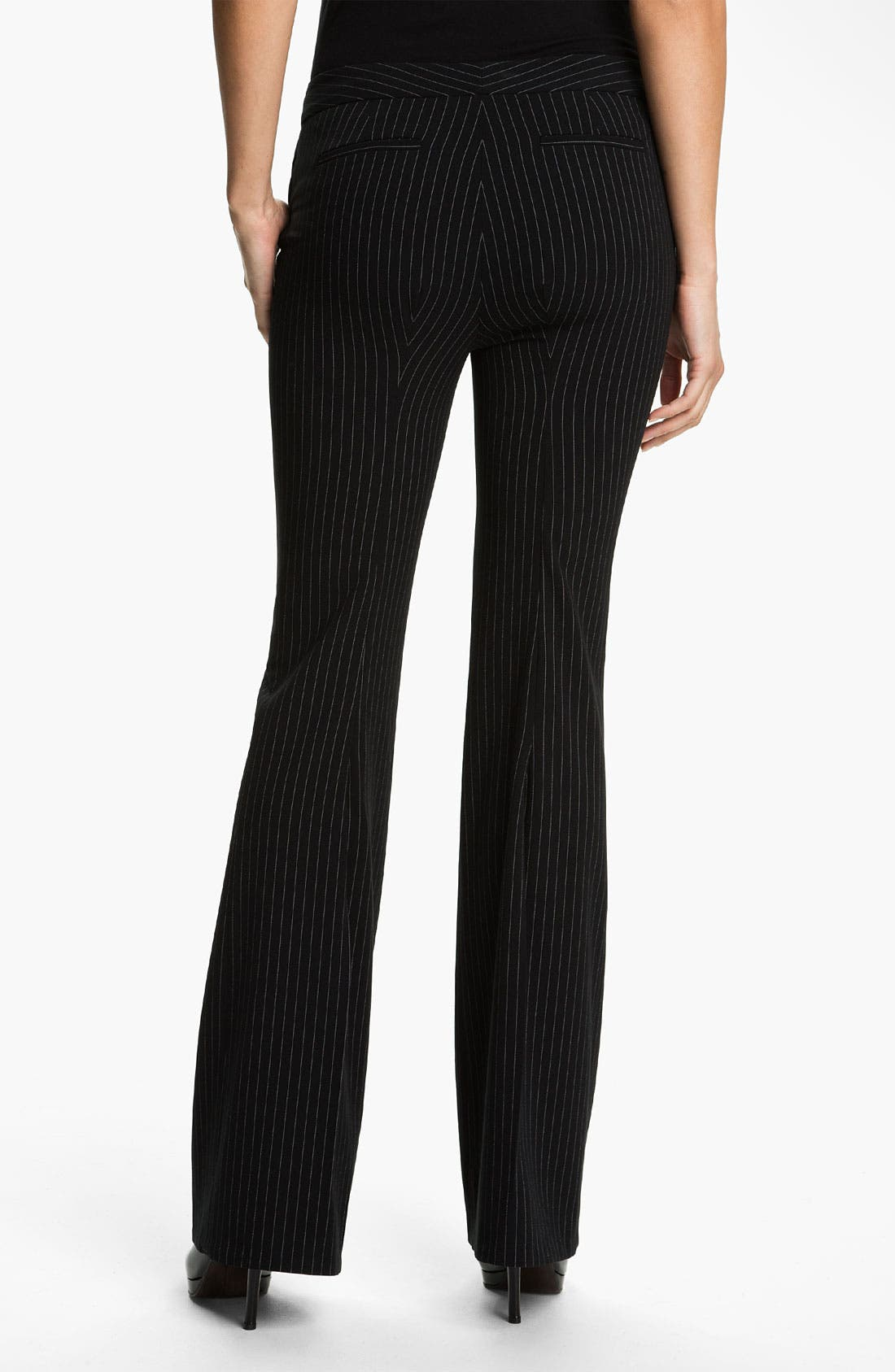 Alternate Image 2  - Anne Klein Pinstripe Wide Leg Pants (Petite)