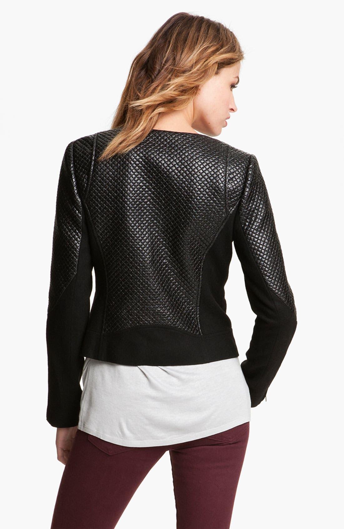Alternate Image 2  - Trouvé Quilted Moto Jacket
