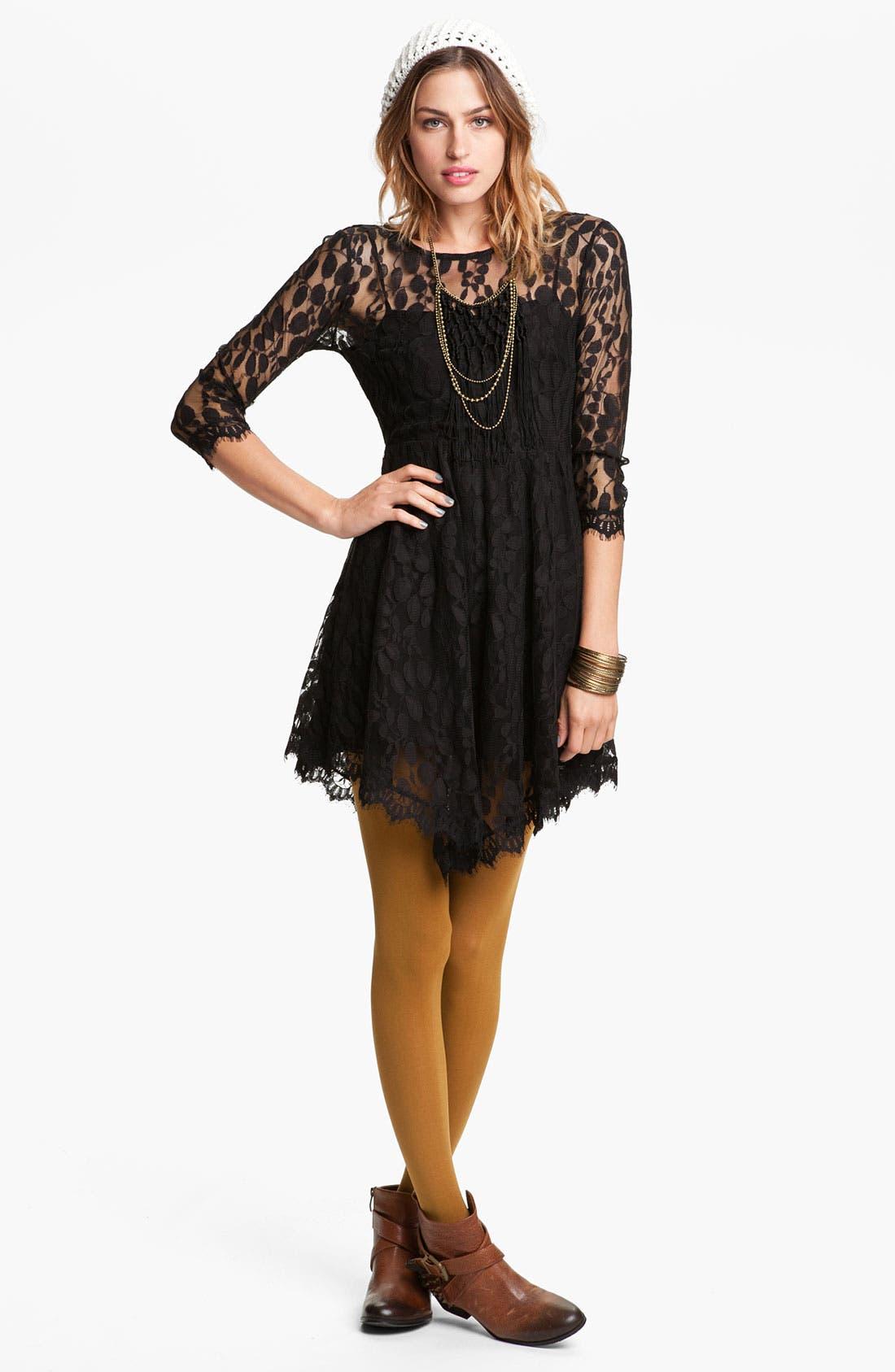 Alternate Image 1 Selected - Free People Handkerchief Hem Lace Dress