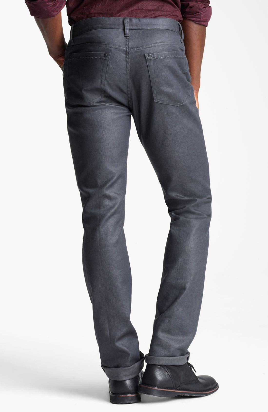 Alternate Image 2  - John Varvatos Collection Slim Fit Jeans (Metal Grey)
