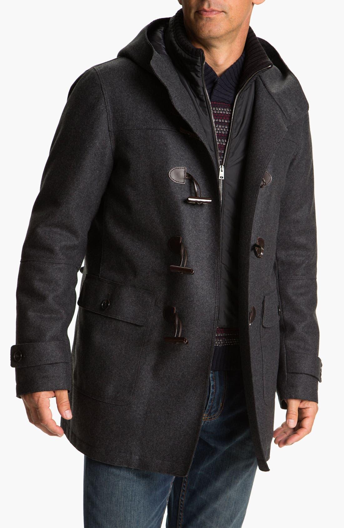 Wool Blend Caban Coat,                         Main,                         color, Dark Grey
