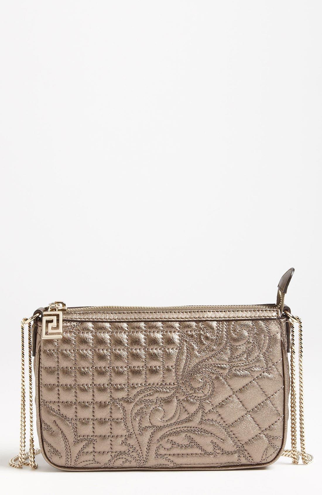 Main Image - Versace 'Vanitas' Leather Crossbody Pouchette