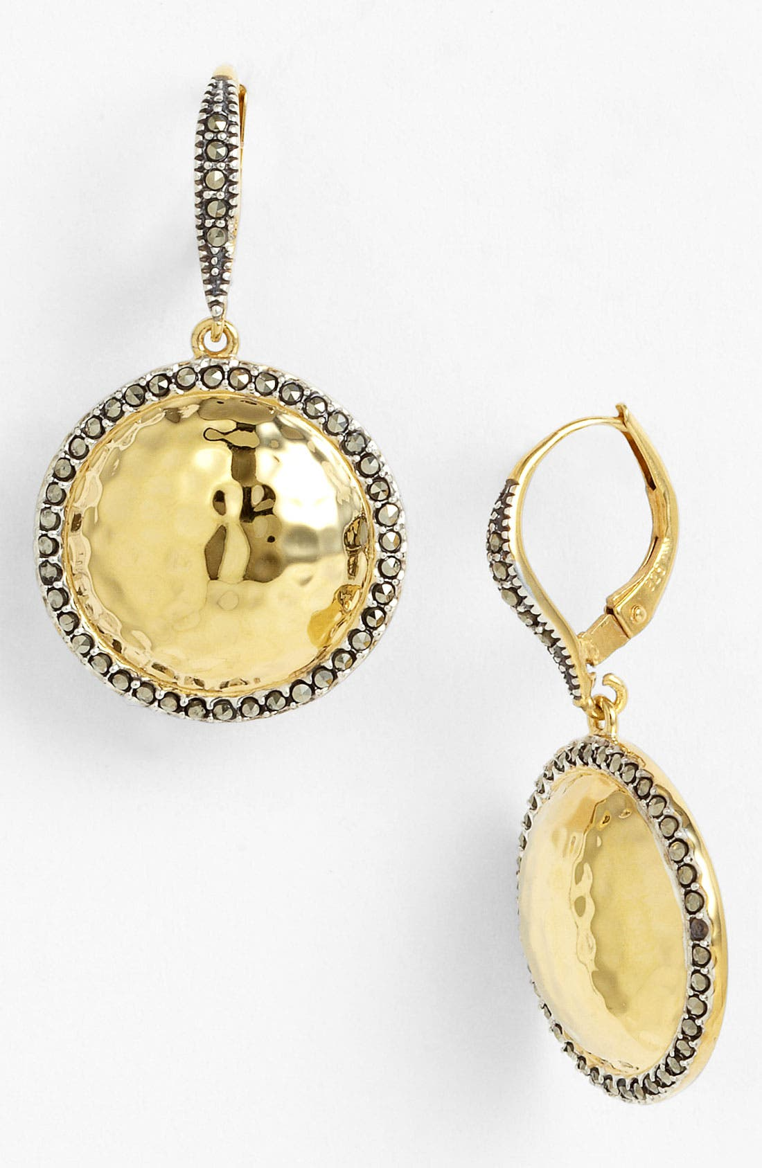 Alternate Image 1 Selected - Judith Jack 'Gold Sea' Puffy Dome Drop Earrings