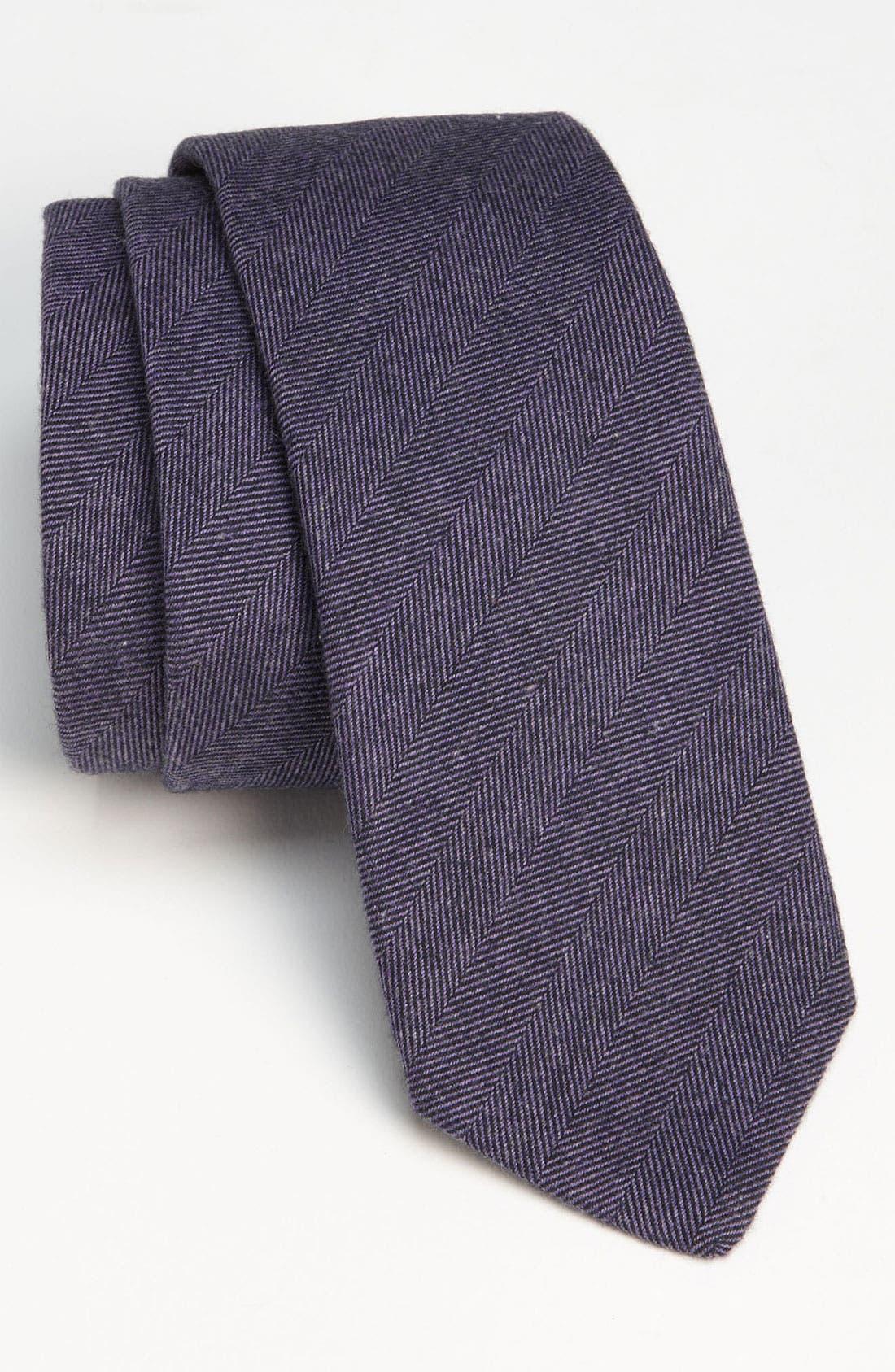 Woven Cotton Tie,                             Main thumbnail 1, color,                             Lavender