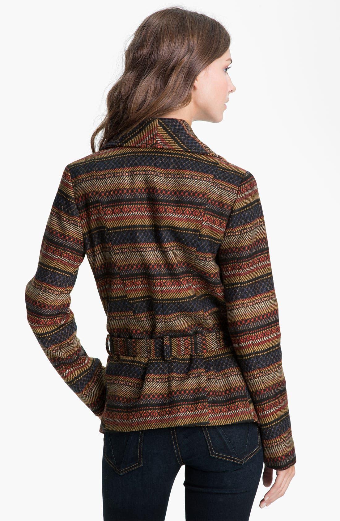 Alternate Image 2  - Jack Southwestern Blanket Coat (Juniors)