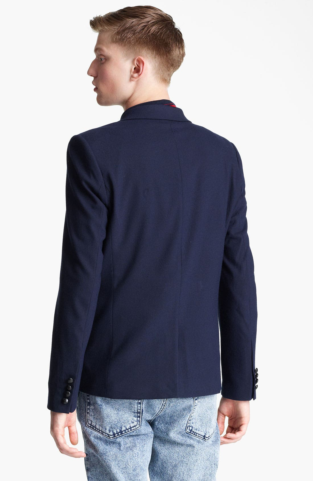 Alternate Image 2  - Topman Heritage Fit Herringbone Blazer