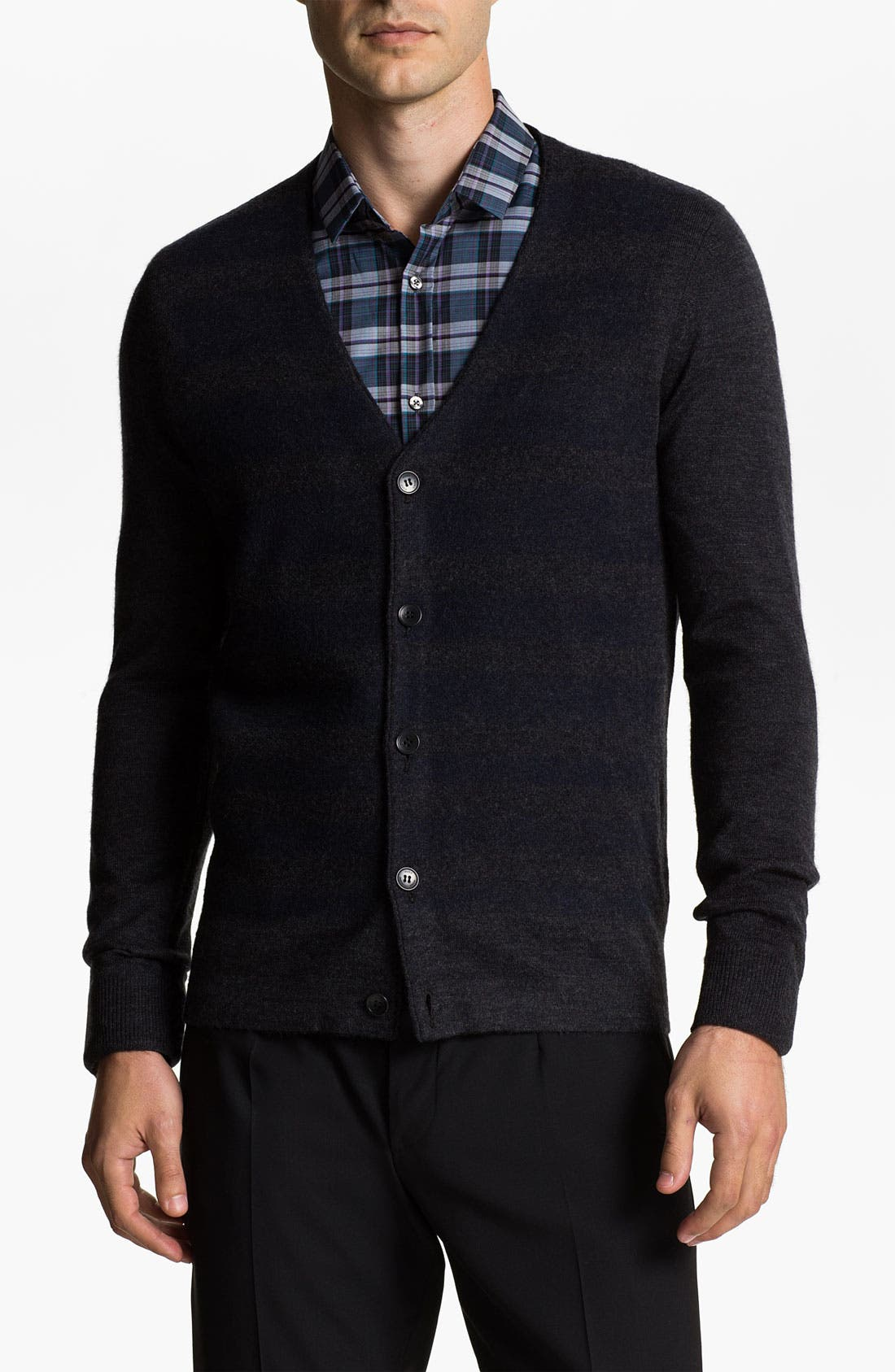 Main Image - HUGO 'Sway' Wool Blend Button Cardigan