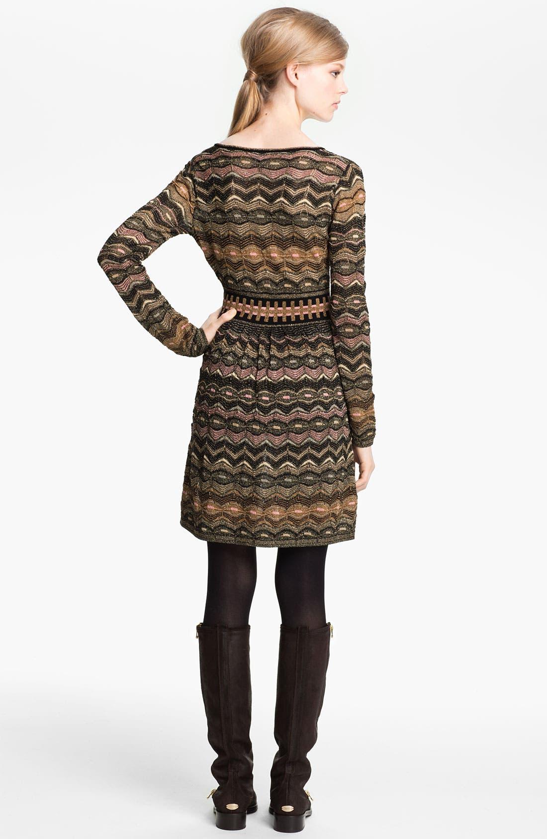 Alternate Image 2  - M Missoni Zigzag Metallic Knit Dress