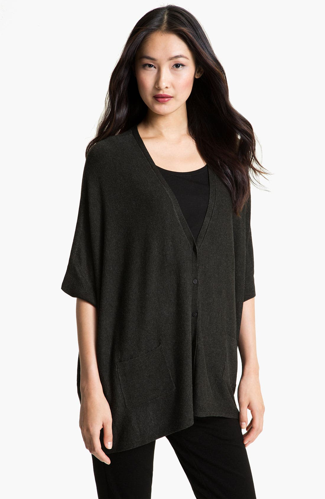 Alternate Image 1 Selected - Eileen Fisher Boxy Knit Cardigan