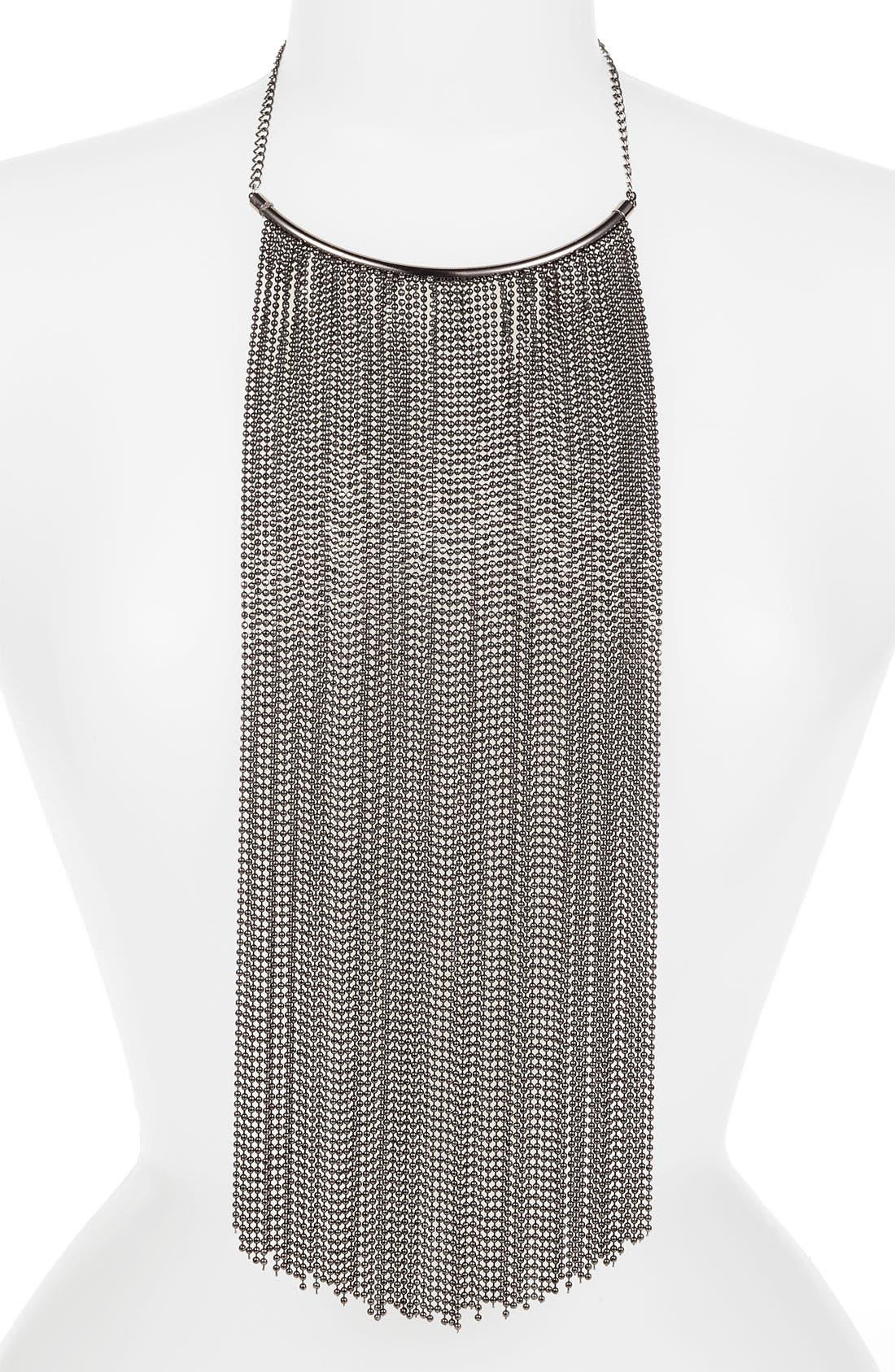 Main Image - Natasha Couture Fringe Bib Necklace