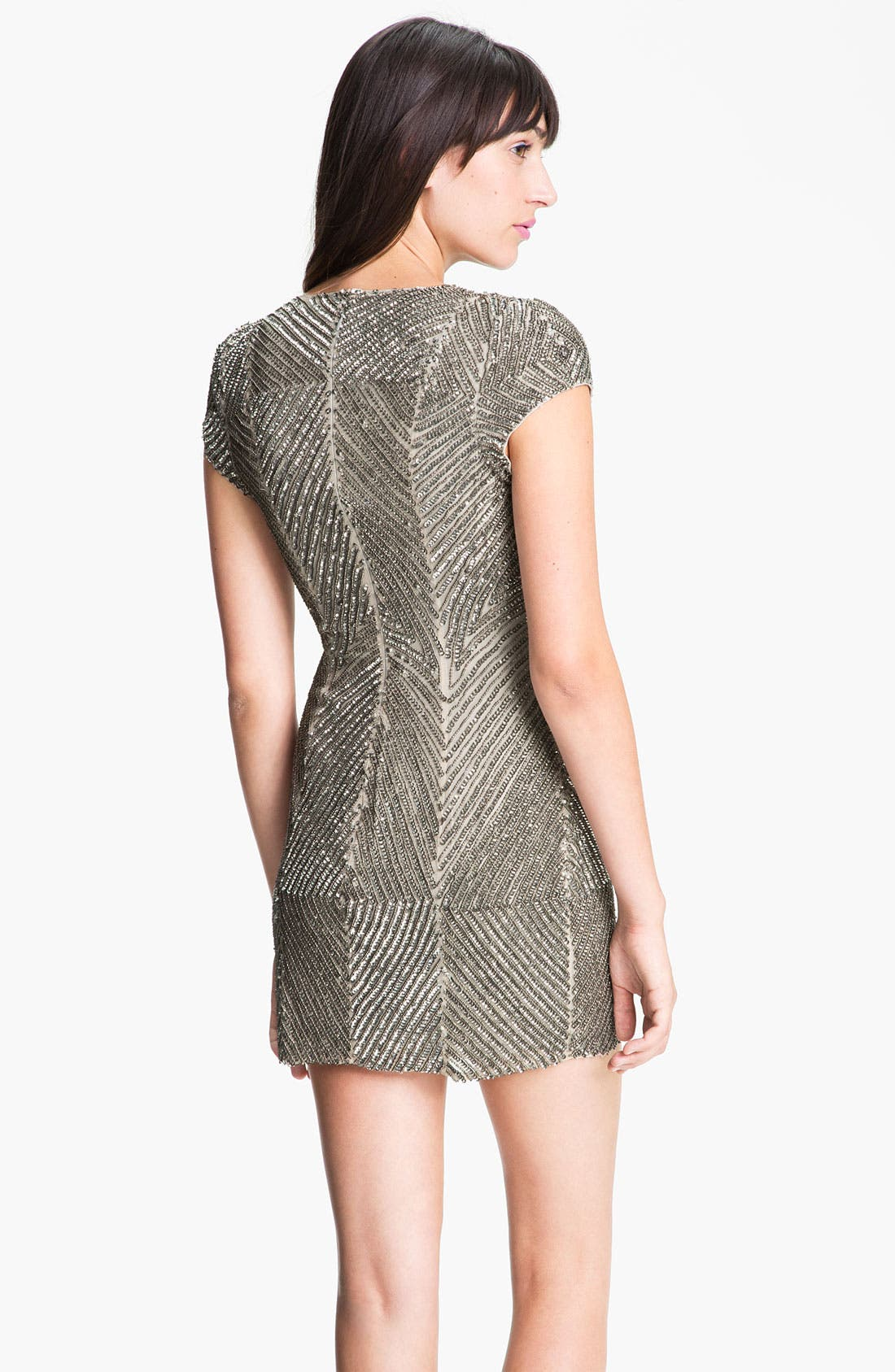 Alternate Image 2  - Parker Embellished Short Sleeve V-Neck Dress