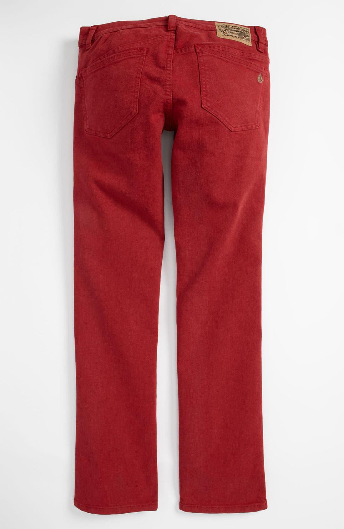 Main Image - Volcom '2x4' Skinny Jeans (Big Boys)