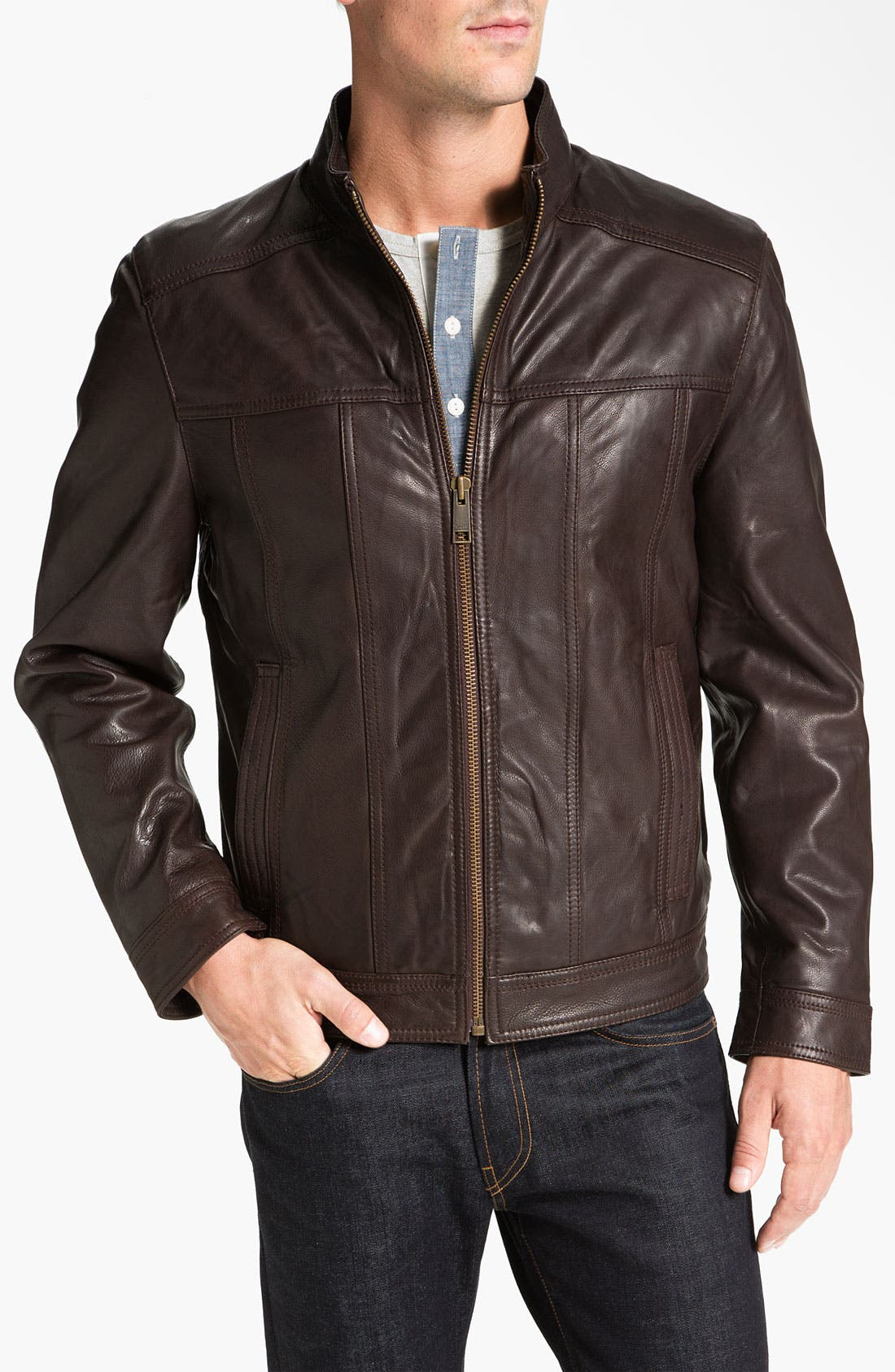 Alternate Image 1 Selected - Marc New York by Andrew Marc 'Cruz' Leather Jacket