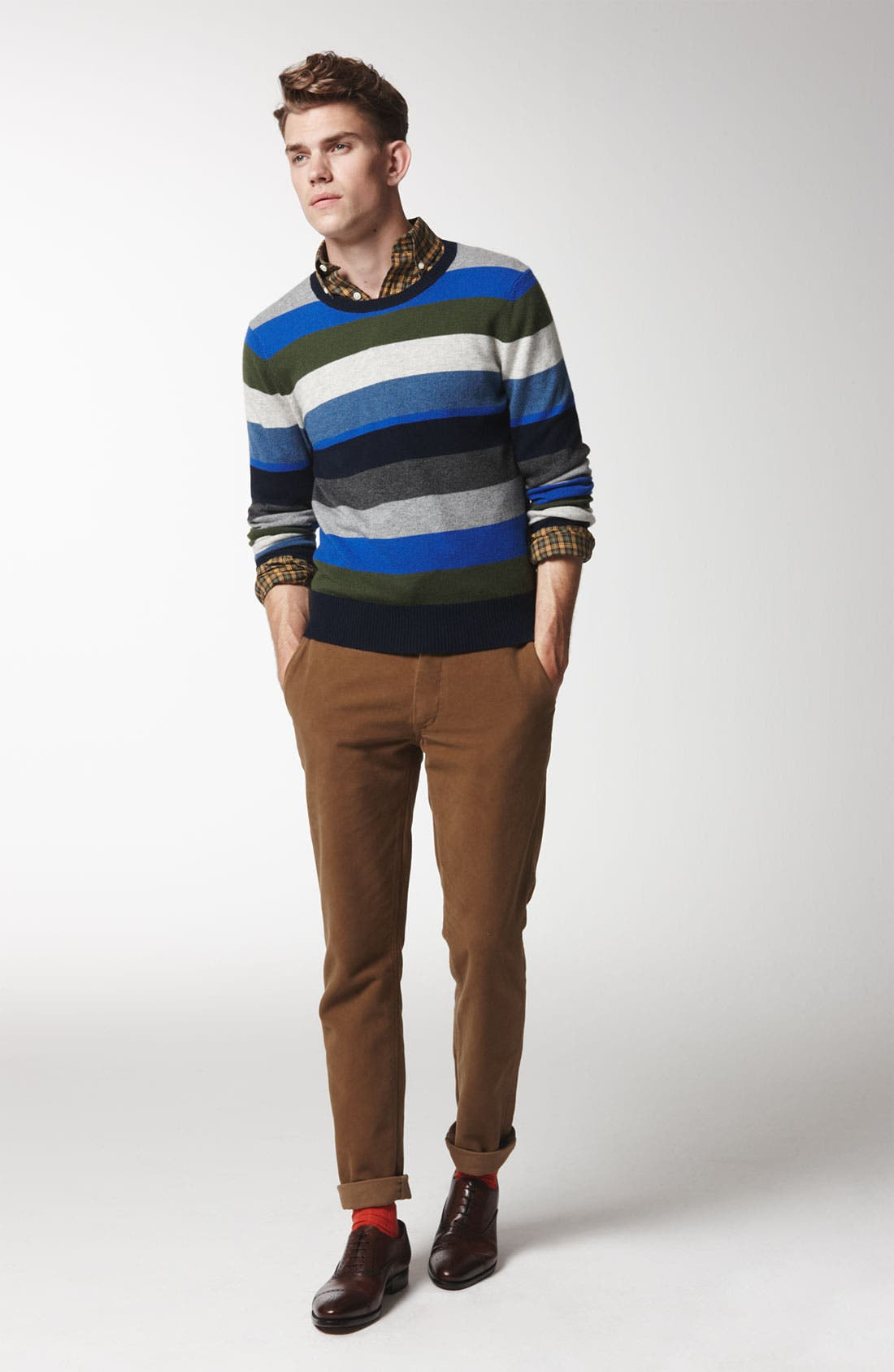 Alternate Image 6  - Jack Spade 'Page' Stripe Wool & Cashmere Sweater