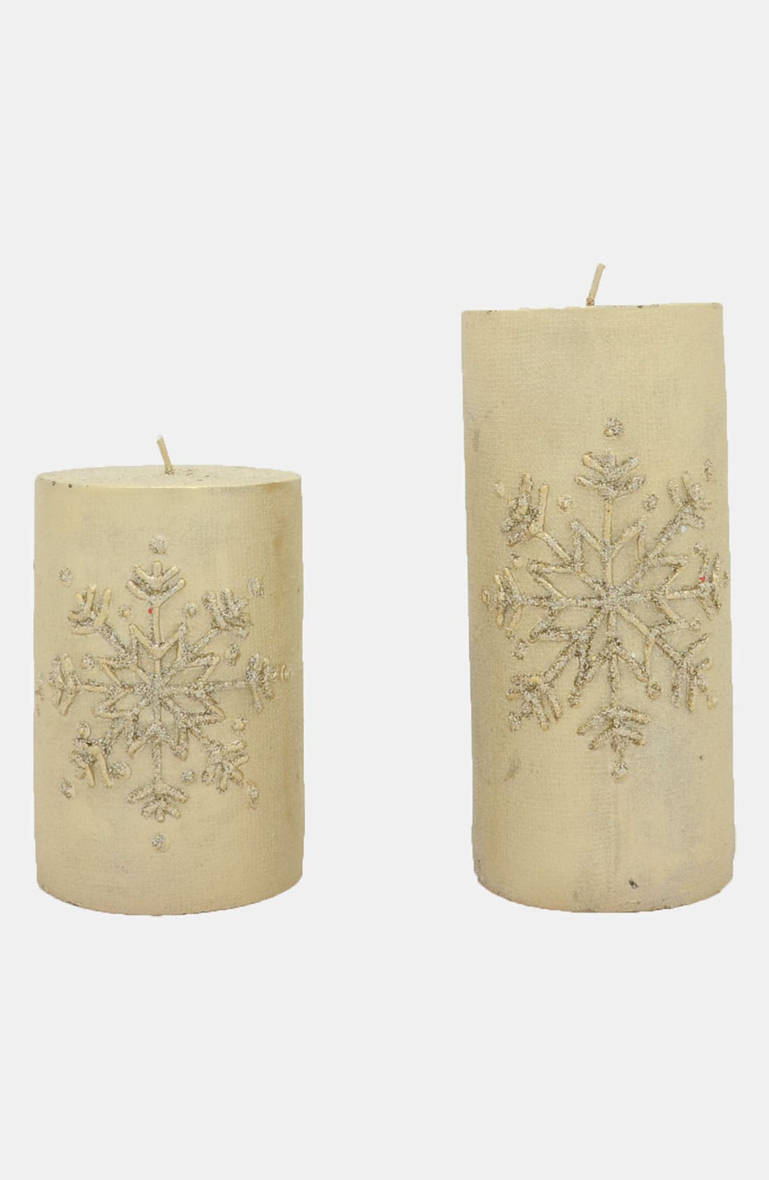 Main Image - Fantastic Craft 'Snowflake' Pillar Candle
