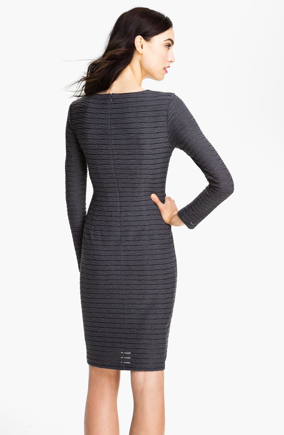 Alternate Image 2  - Adrianna Papell Asymmetrical Seam Stripe Dress