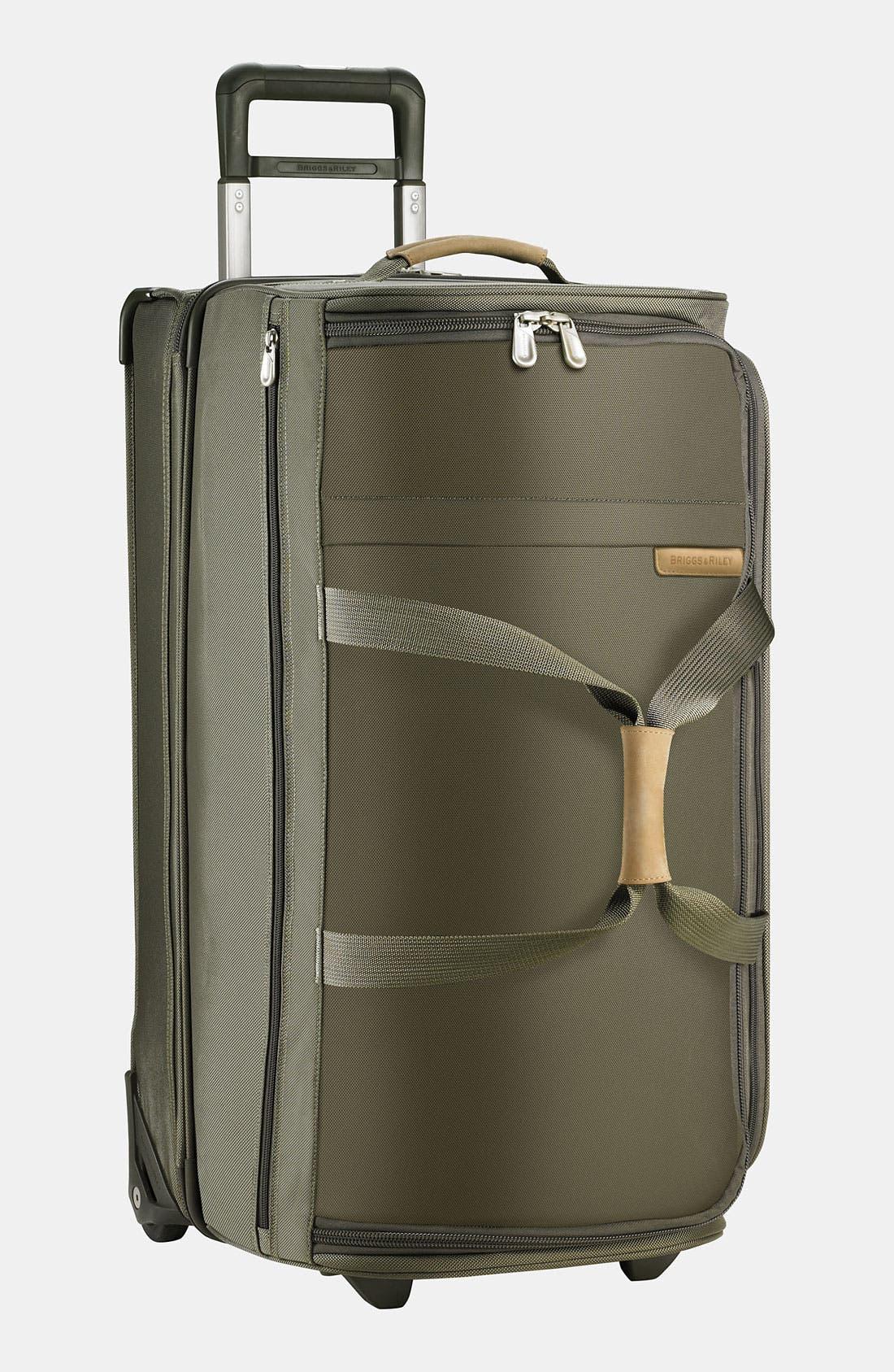 Large Baseline 29-Inch Rolling Duffel Bag,                         Main,                         color, Olive