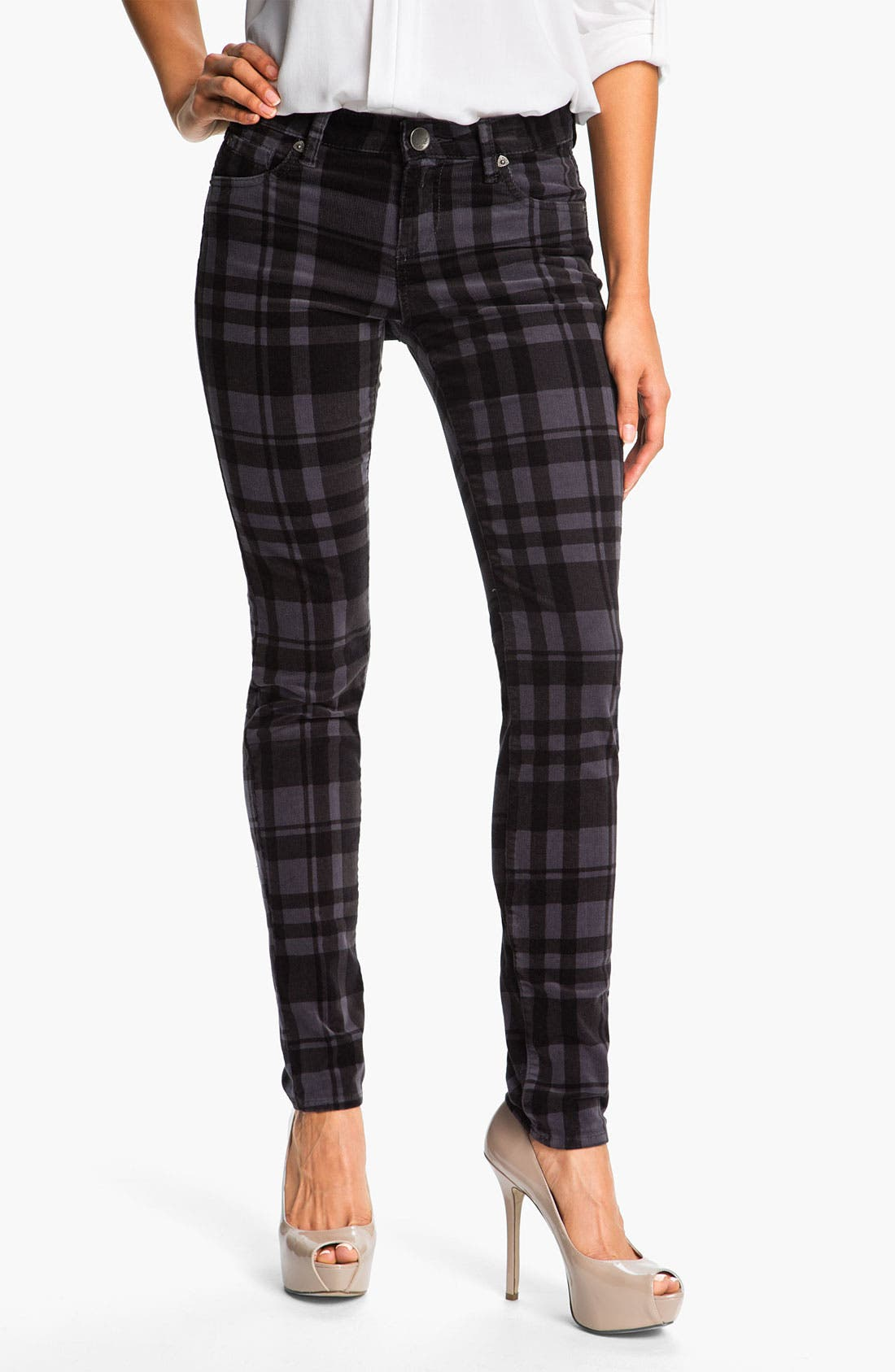 Alternate Image 1 Selected - KUT from the Kloth Plaid Corduroy Pants