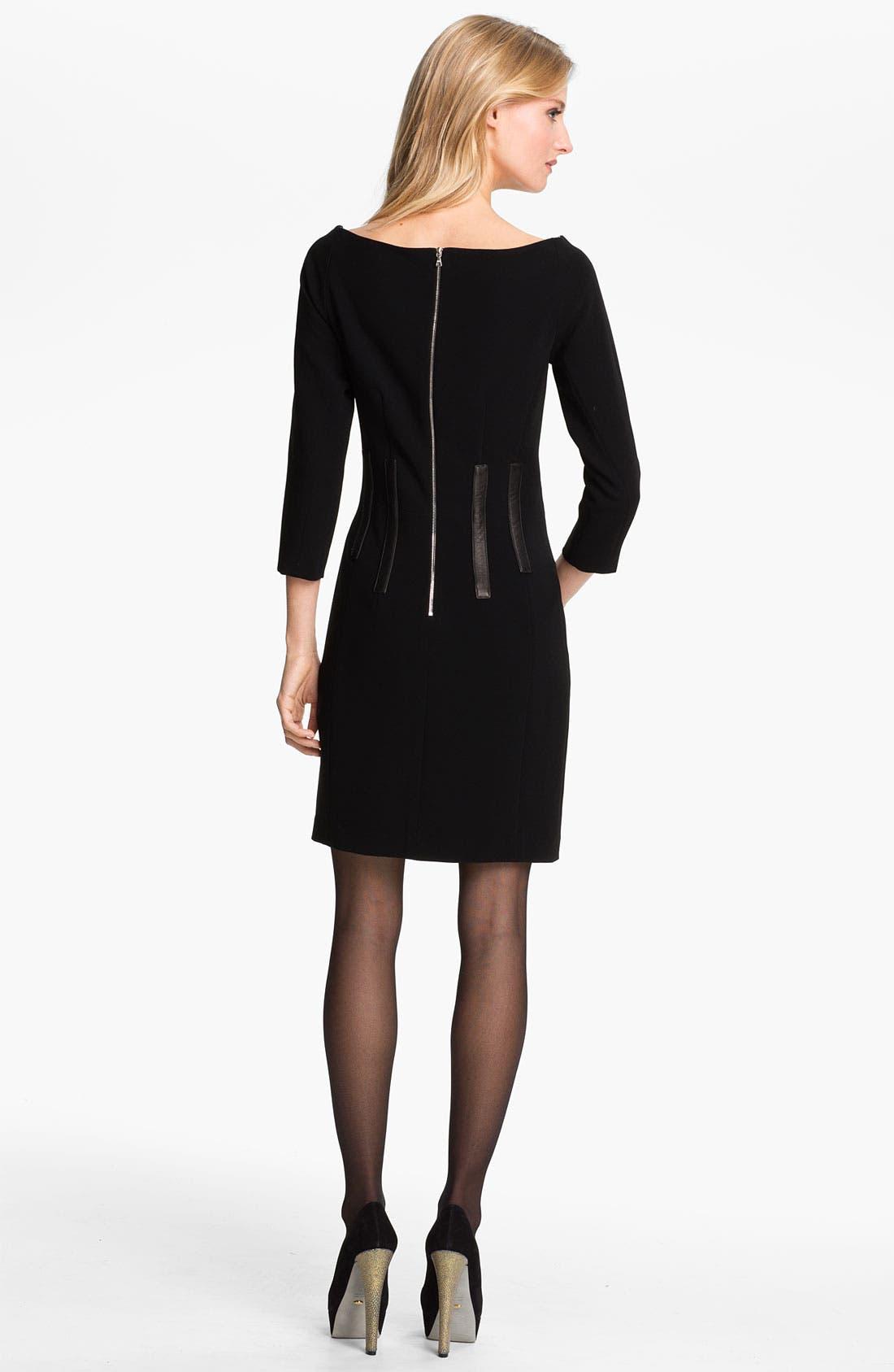 Alternate Image 2  - rag & bone 'Imogen' Leather Trim Dress