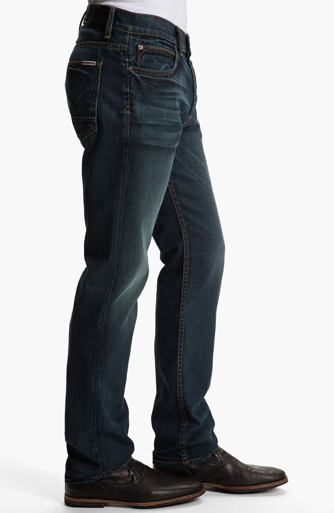 Alternate Image 3  - Hudson Jeans 'Dandy' Slouchy Straight Leg Jeans (Shovel)