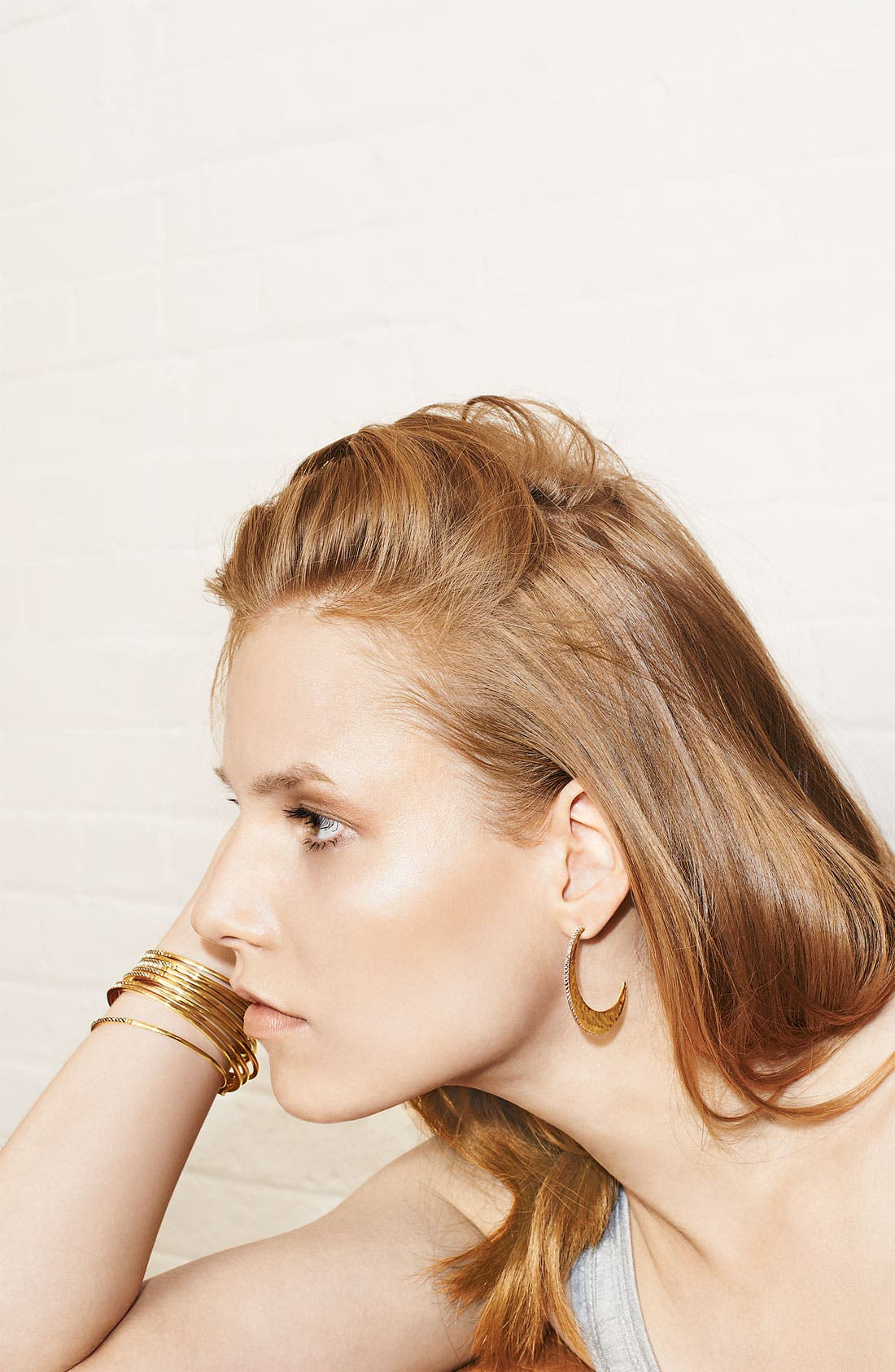 Alternate Image 4  - Judith Jack 'Gold Sea' Crescent Hoop Earrings