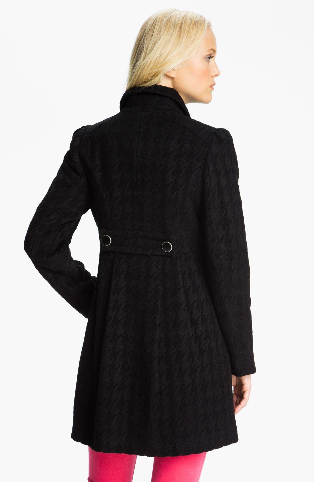 Alternate Image 2  - Betsey Johnson Houndstooth Walking Coat