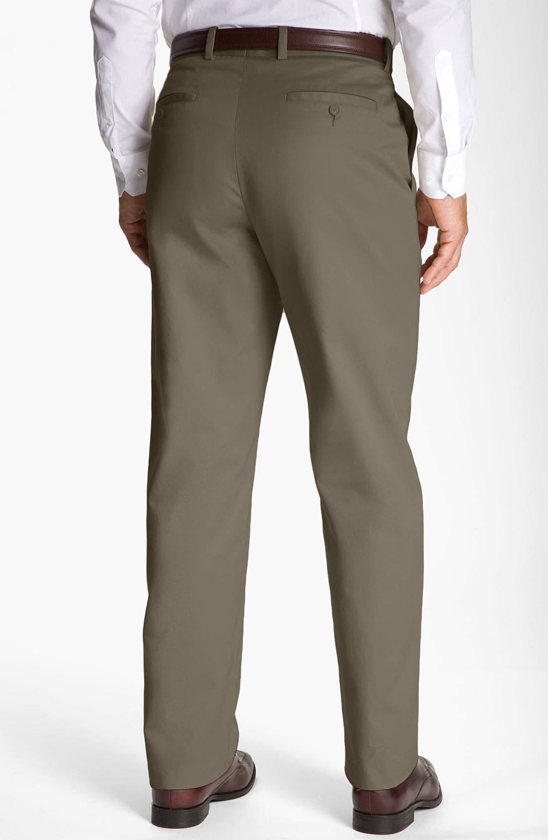 Alternate Image 2  - John W. Nordstrom® Smartcare™ Flat Front Supima® Cotton Pants