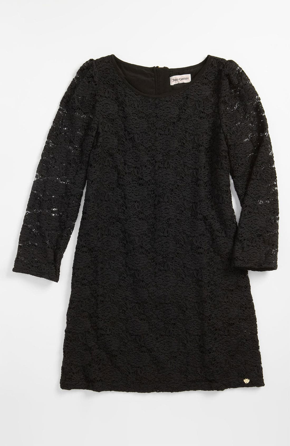 Lace Shift Dress,                             Main thumbnail 1, color,                             Black