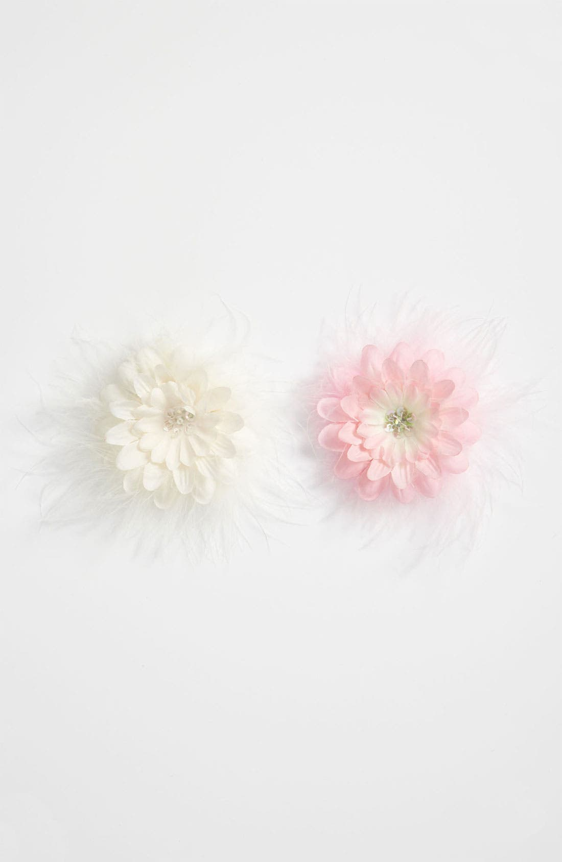 Main Image - PLH Bows & Laces Flower Clips (Set of 2) (Baby Girls & Toddler Girls)