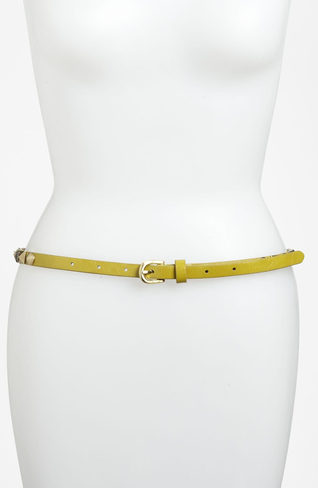 Alternate Image 1 Selected - Betsey Johnson Studded Skinny Belt