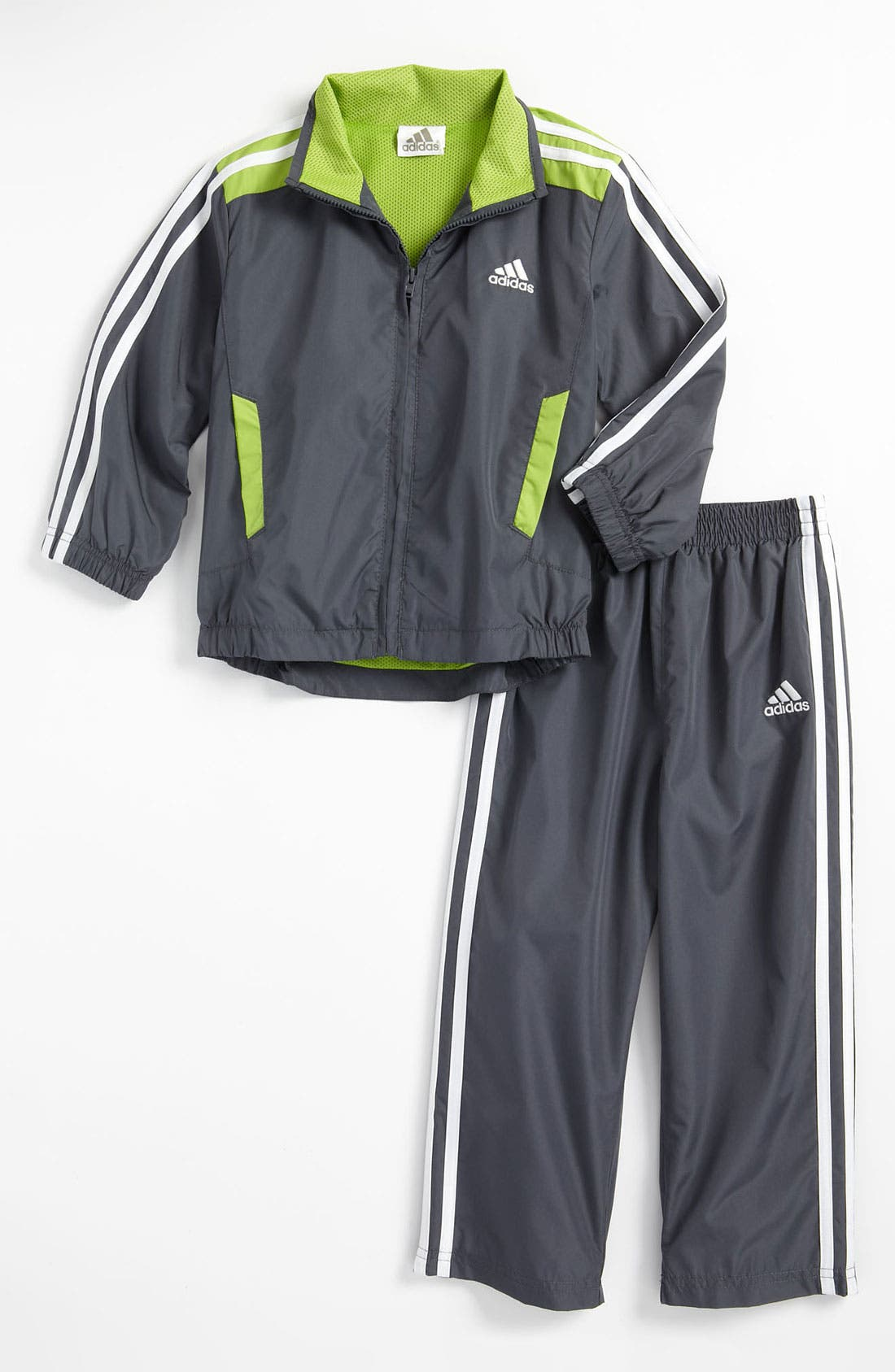 Alternate Image 1 Selected - adidas 'Essential Q15' Jacket & Pants (Toddler)