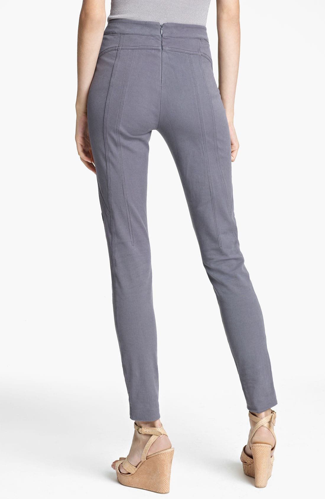Alternate Image 2  - Donna Karan Collection Skinny Sueded Stretch Cotton Pants