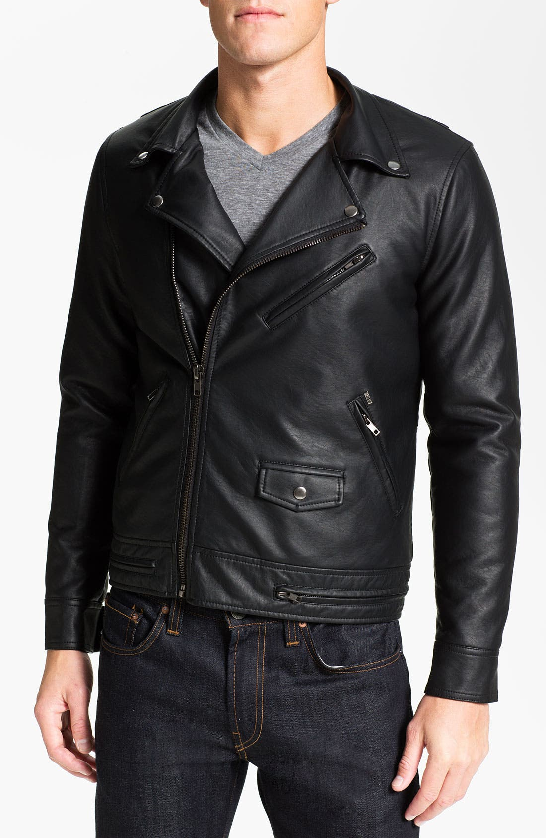 Main Image - Obey 'Dirty' Faux Leather Jacket