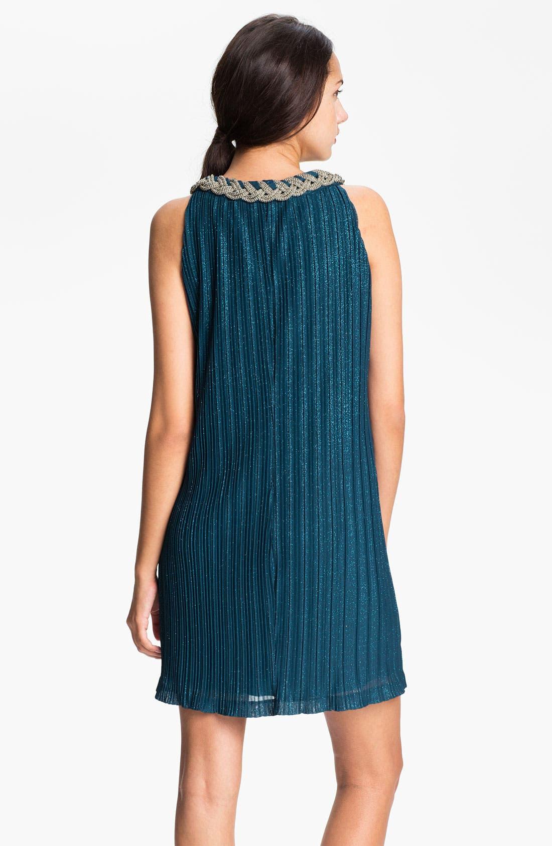 Alternate Image 2  - Donna Ricco Braided Collar Shift Dress