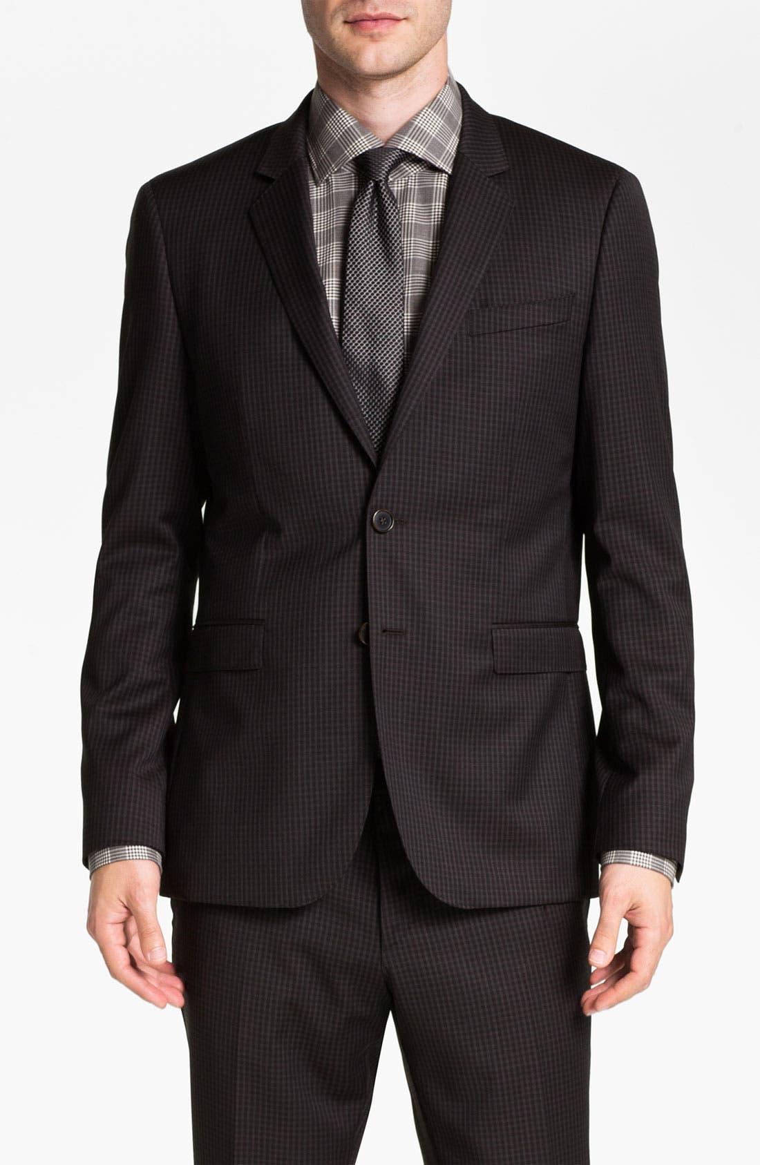 Alternate Image 1 Selected - BOSS Black 'Ryan/Win' Extra Trim Fit Suit