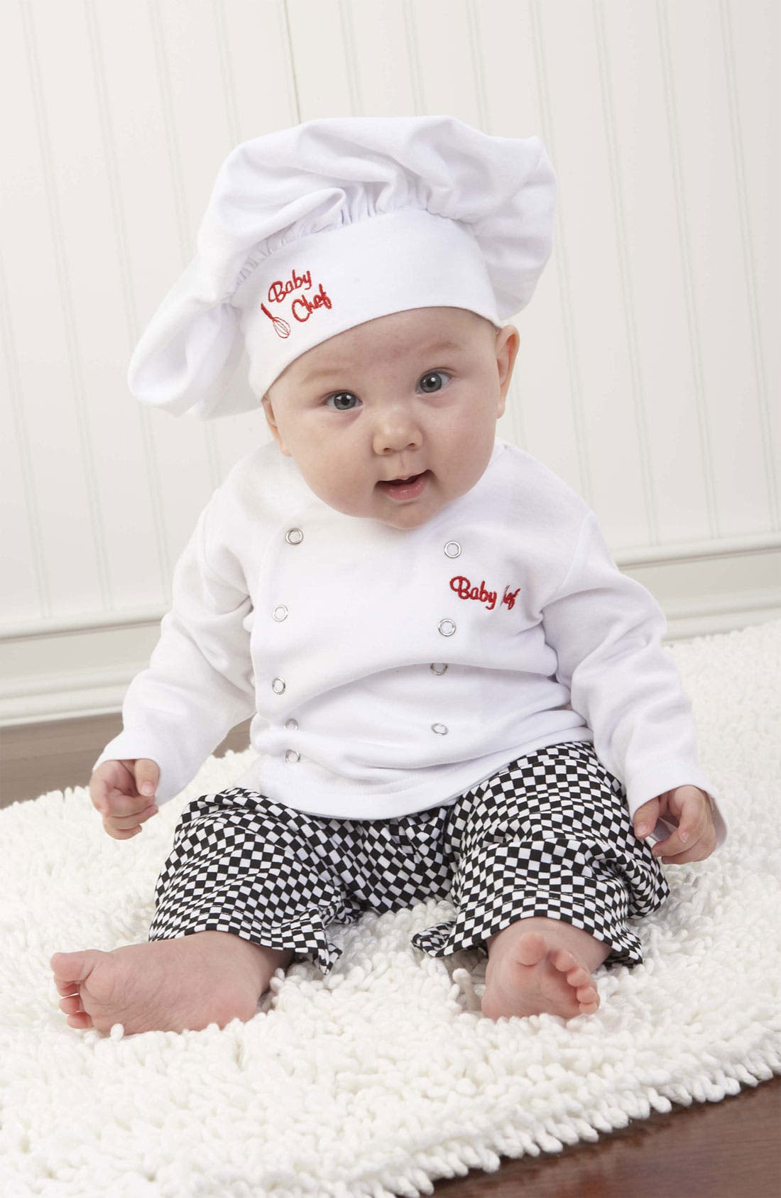 Main Image - Baby Aspen 'Big Dreamzzz - Chef' Shirt, Pants & Hat (Baby)