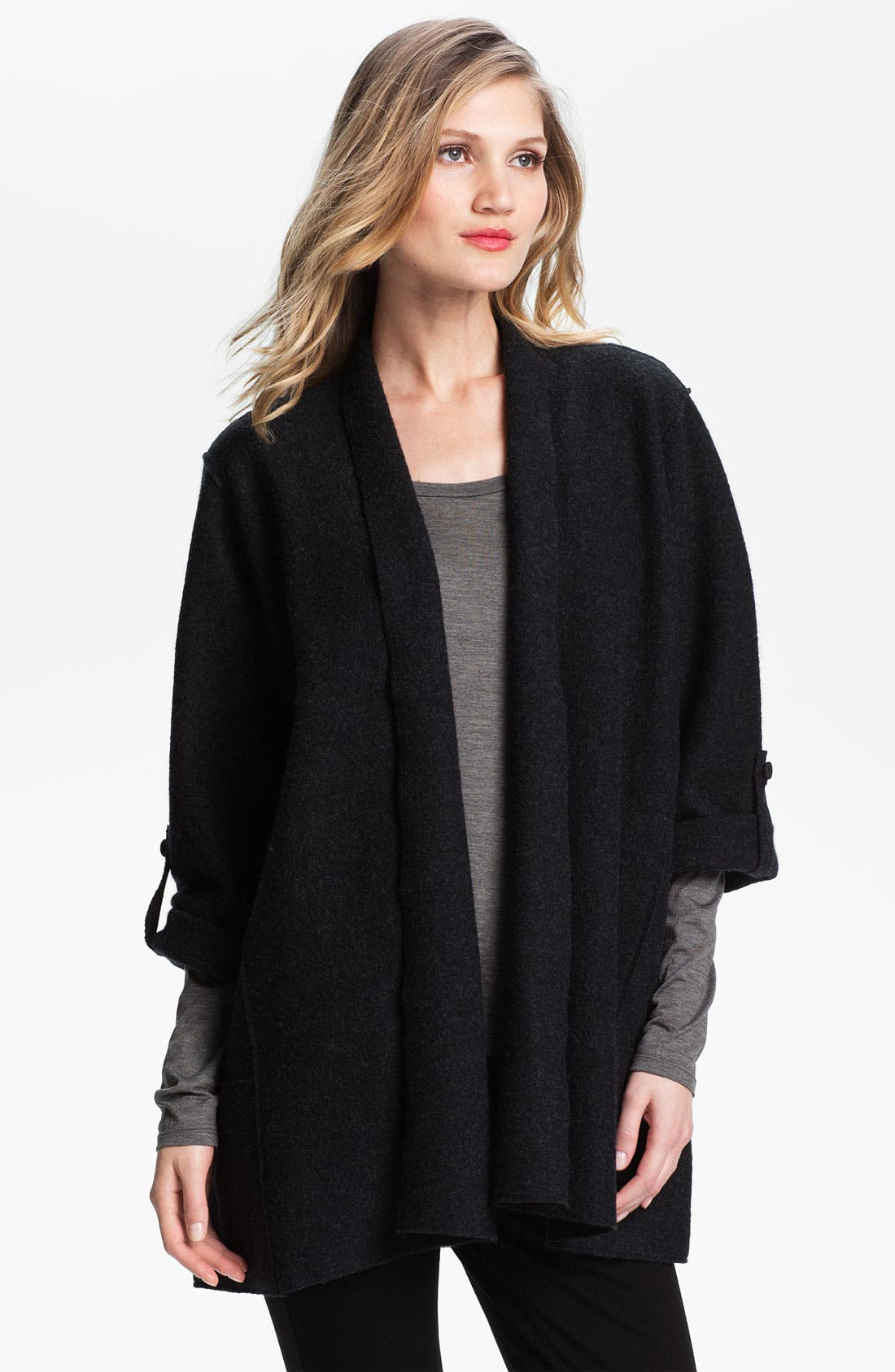 Main Image - Eileen Fisher Lightweight Boiled Wool Jacket