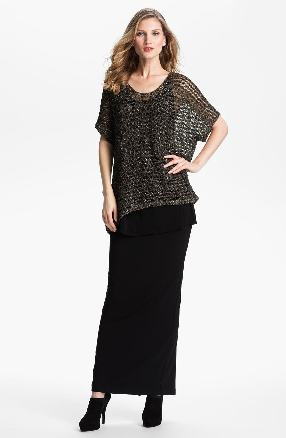 Alternate Image 4  - Eileen Fisher Sparkle Mesh Tunic