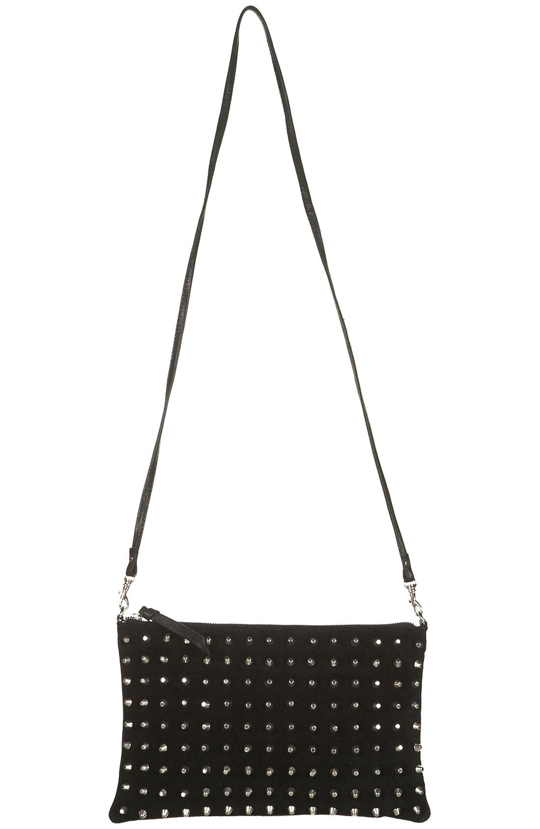 Alternate Image 2  - Topshop Studded Suede Clutch
