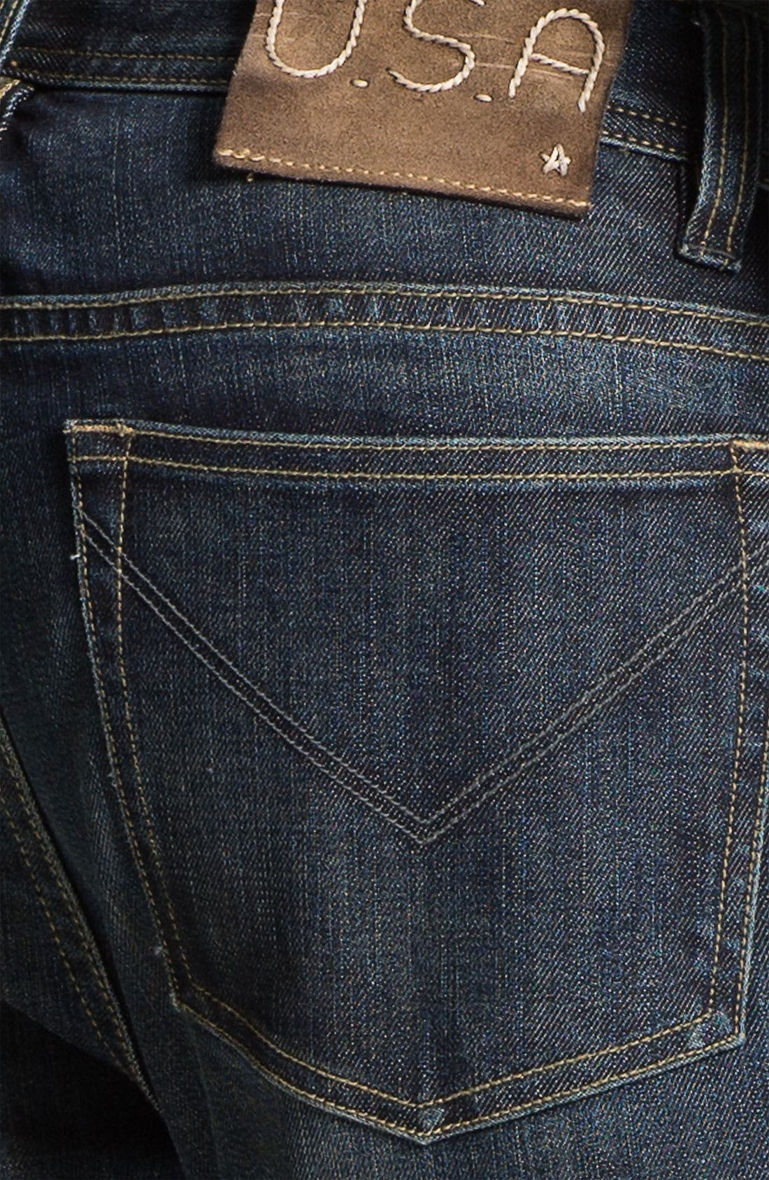 Alternate Image 4  - John Varvatos Star USA 'Bowery' Slim Straight Leg Jeans (Indigo)