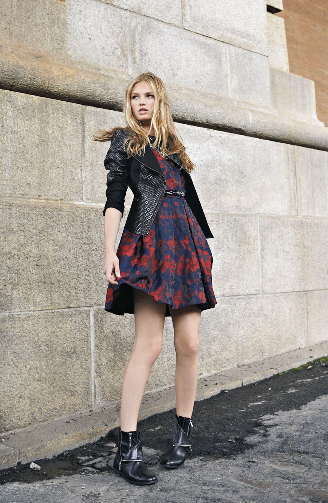 Alternate Image 4  - Taylor Dresses Brocade Fit & Flare Dress