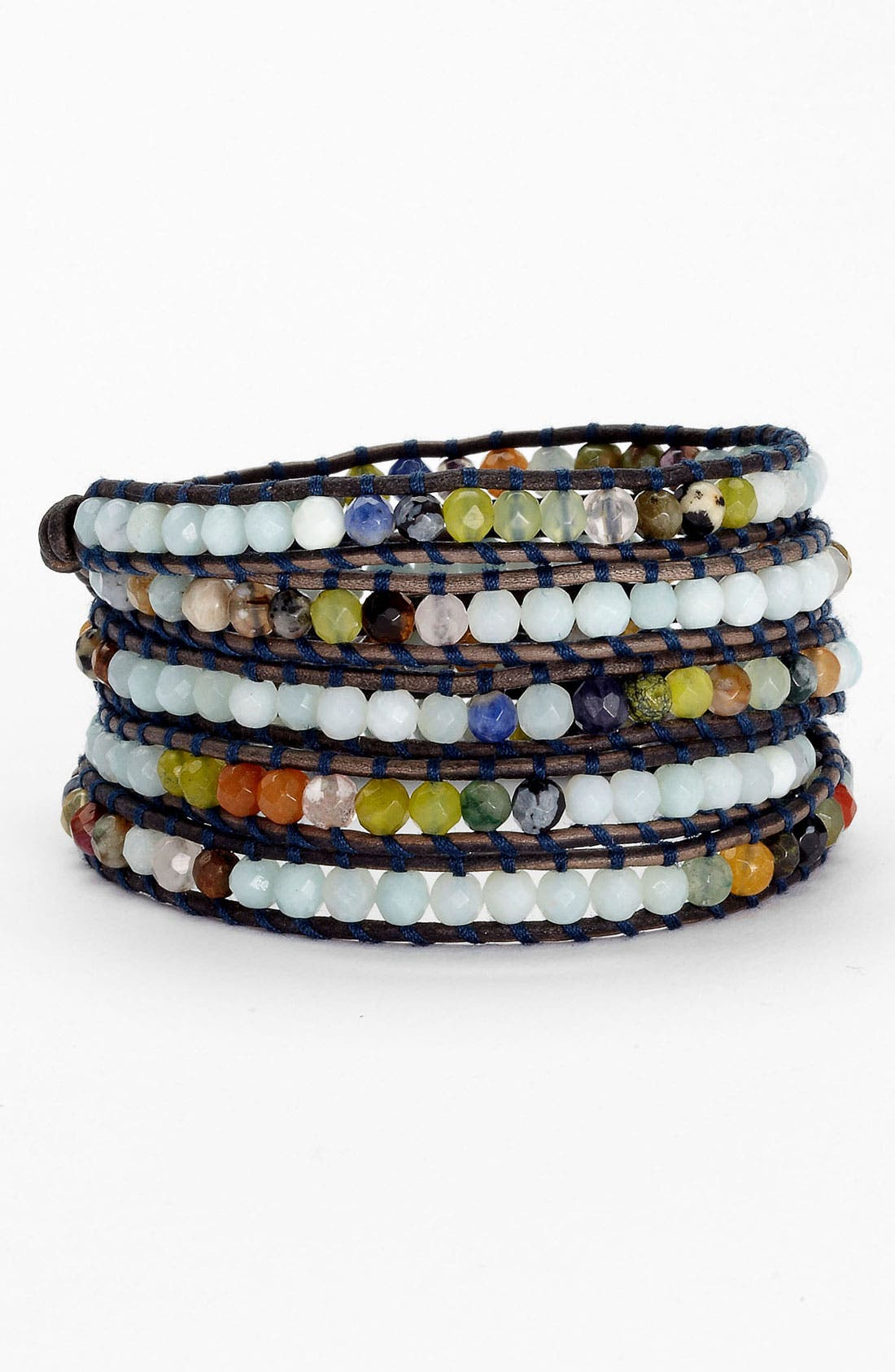 Alternate Image 1 Selected - Chan Luu 'Amazonite Mix' Wrap Bracelet