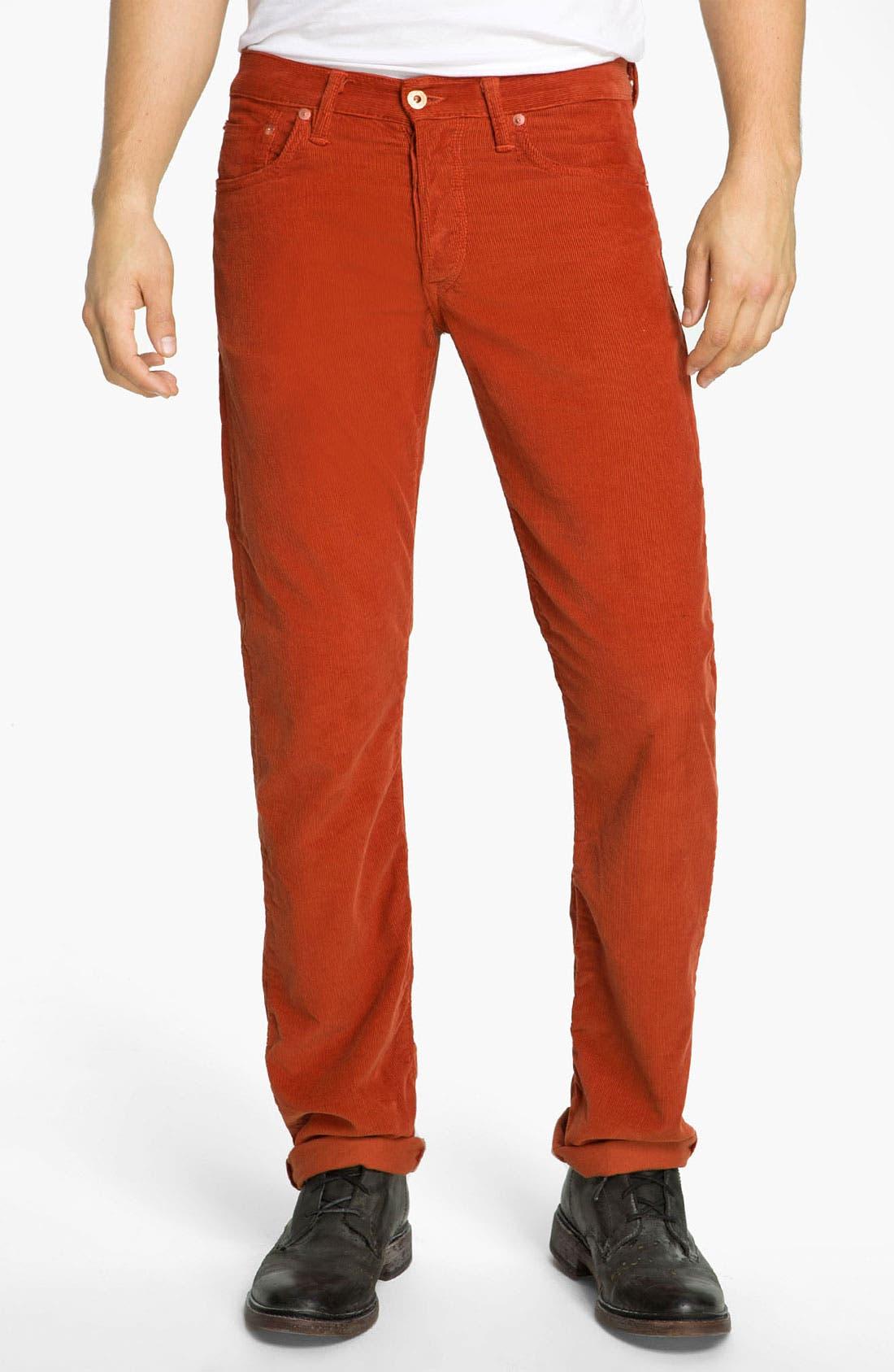 Main Image - NSF Clothing Slim Straight Leg Corduroy Pants